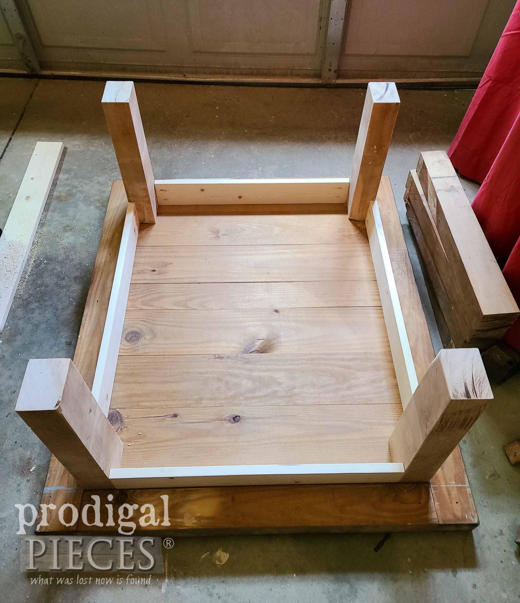 Dry Fit of Reclaimed Coffee Table by Prodigal Pieces   prodigalpieces.com #prodigalpieces