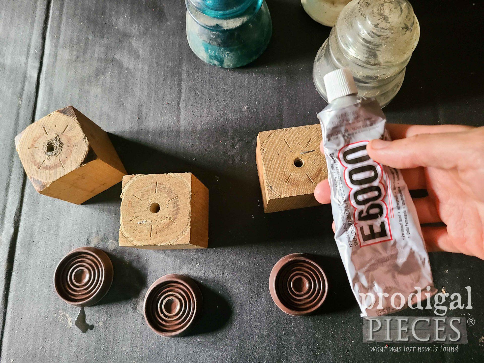 E6000 Glue for Upcycled Antique Insulator Candle Holders | prodigalpieces.com