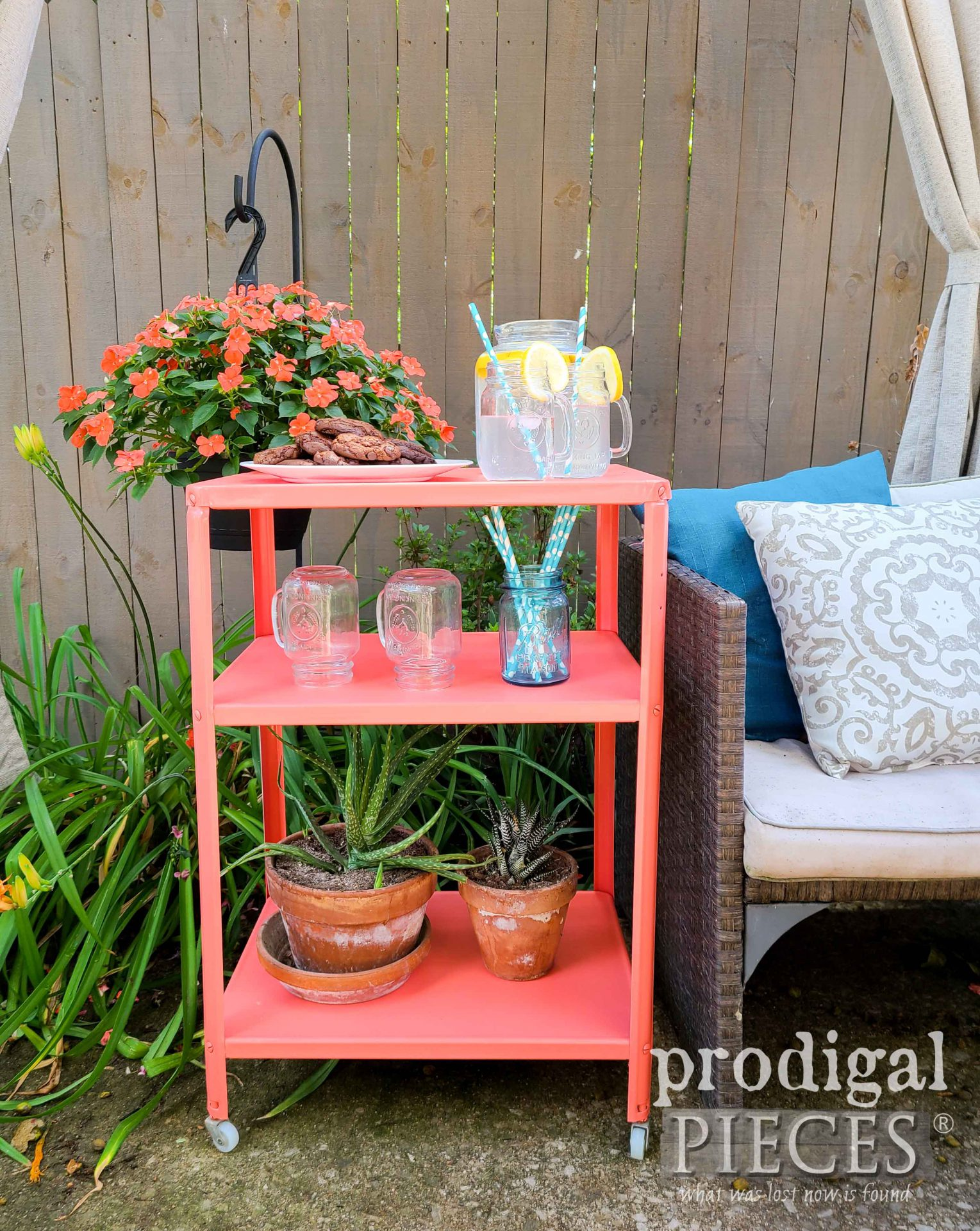Vintage Entertaining Serving Cart by Larissa of Prodigal Pieces | prodigalpieces.com #prodigalpieces #farmhouse #home #homedecor #furniture