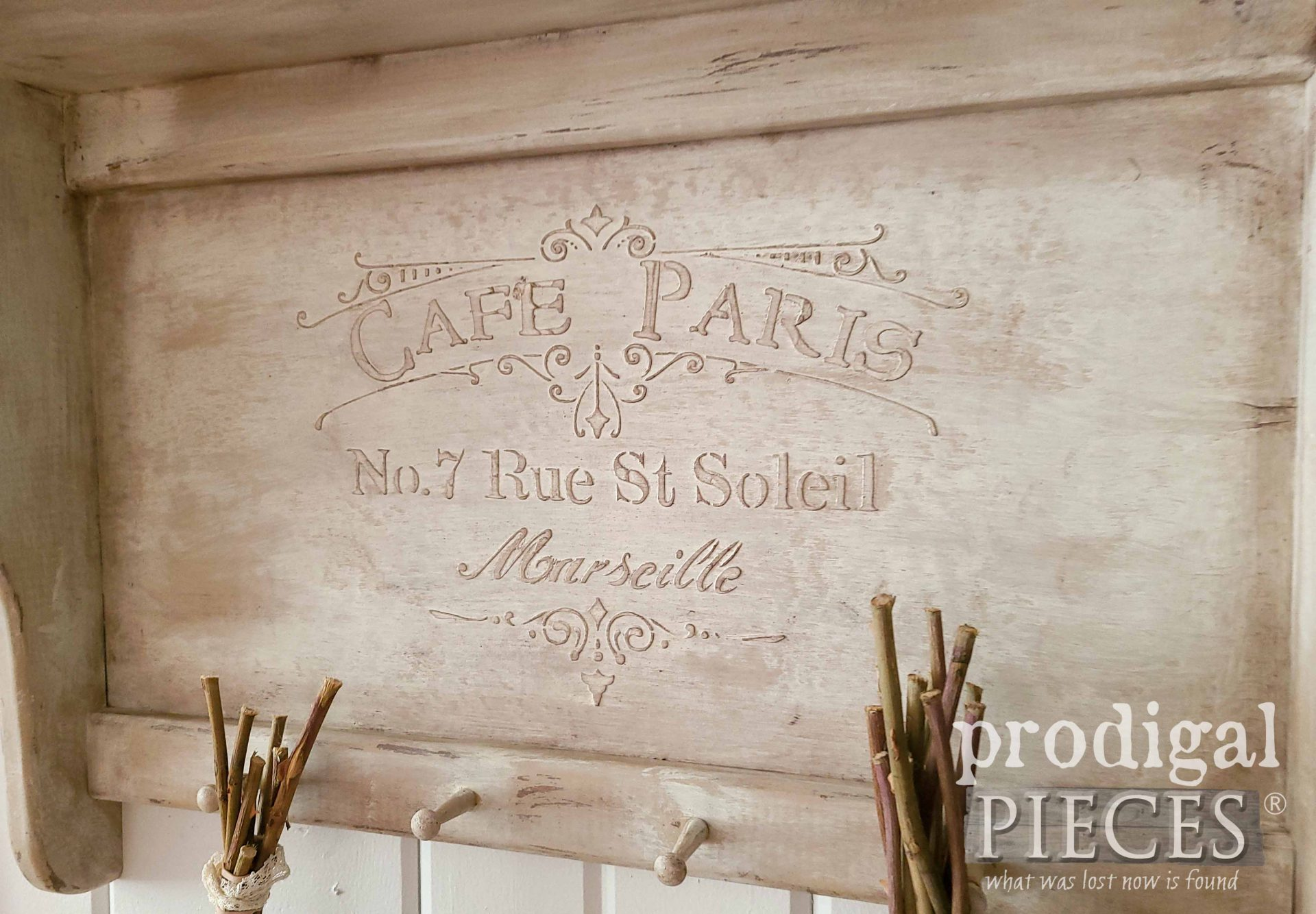 French Chic Shelf with Embossing by Larissa of Prodigal Pieces | prodigalpieces.com #prodigalpieces