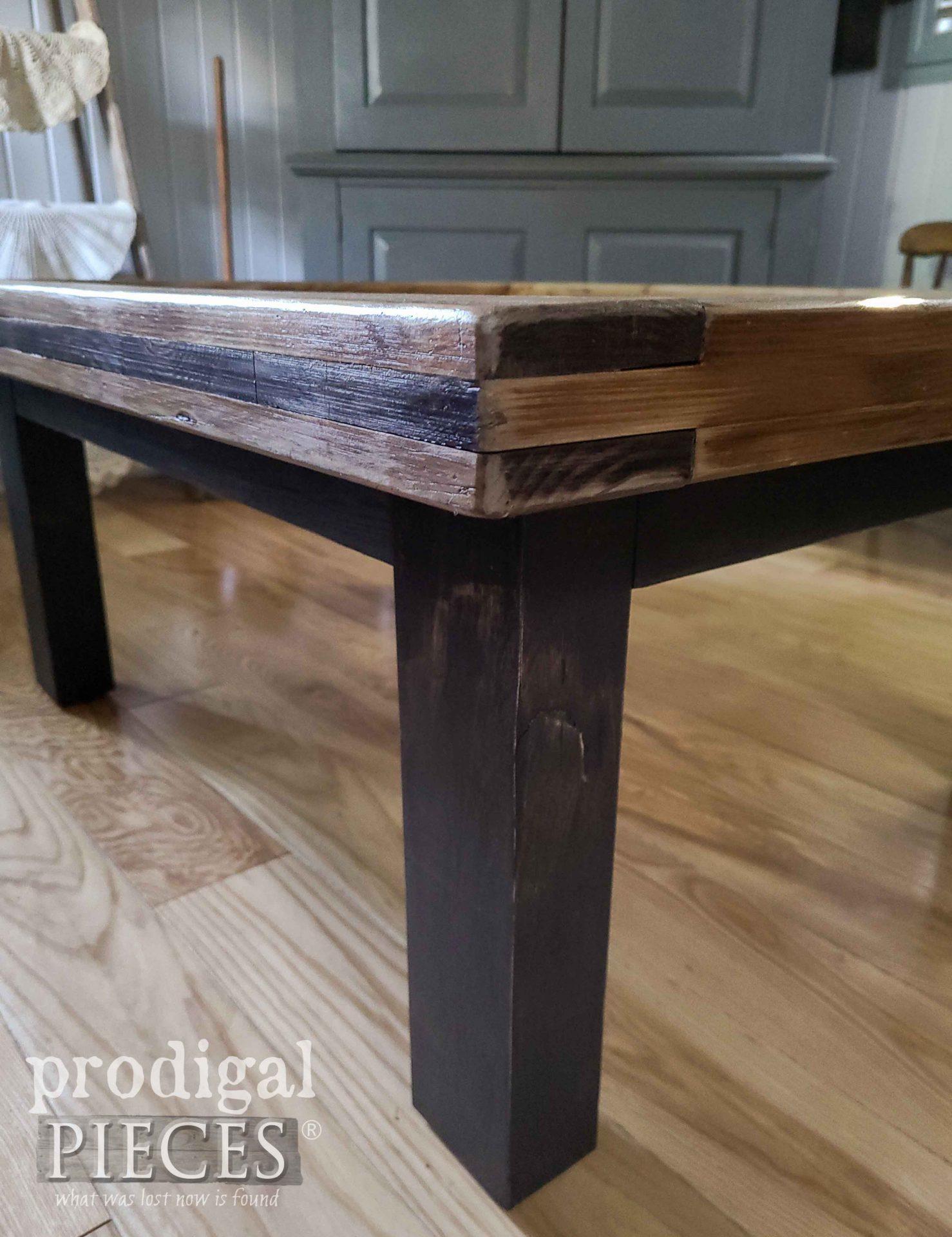 Handmade Coffee Table Built by Larissa of Prodigal Pieces   prodigalpieces.com #prodigalpieces #diy #farmhouse #furniture #home #homedecor