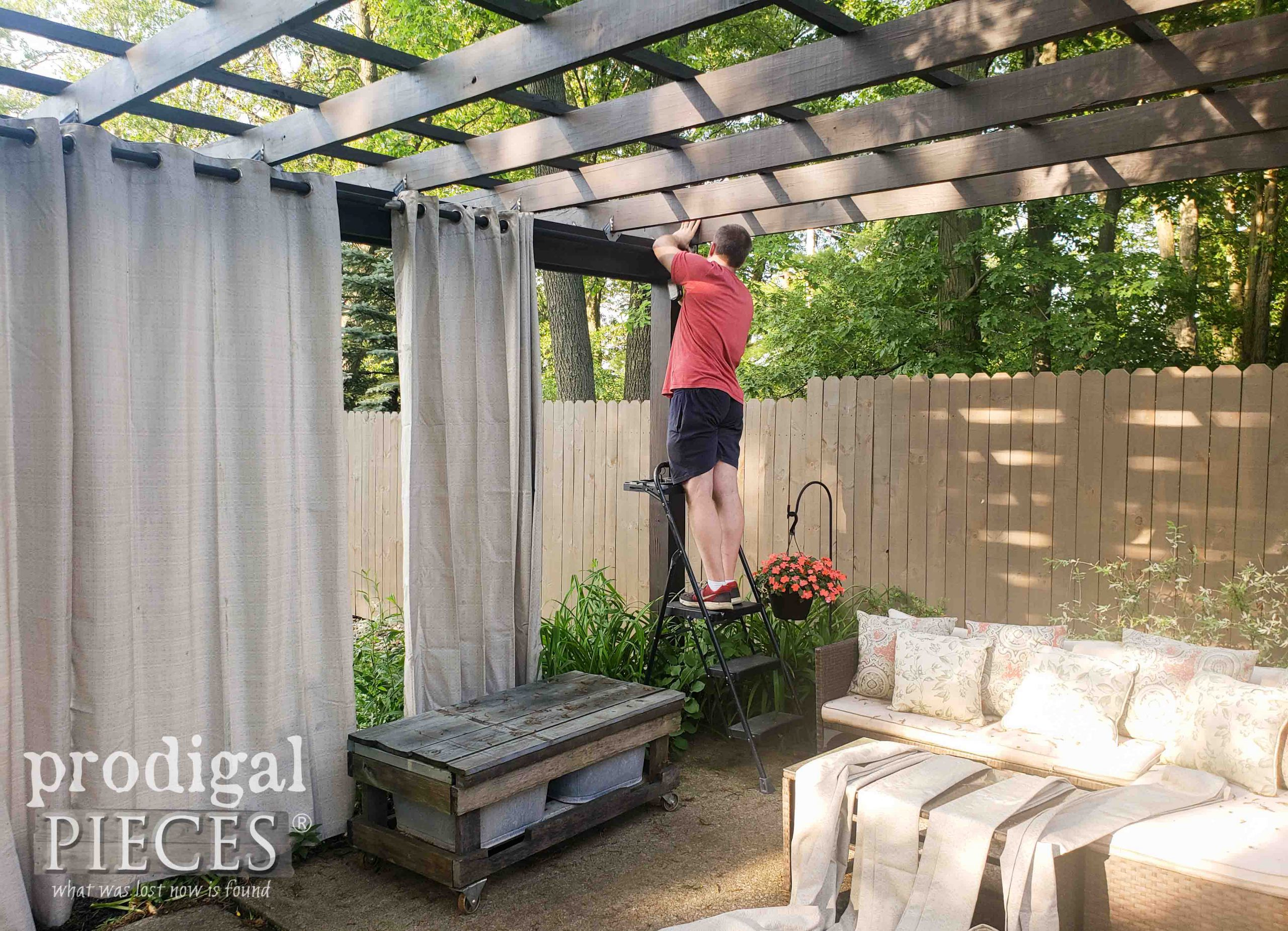Hanging Patio Curtains | Prodigal Pieces | prodigalpieces.com #prodigalpieces