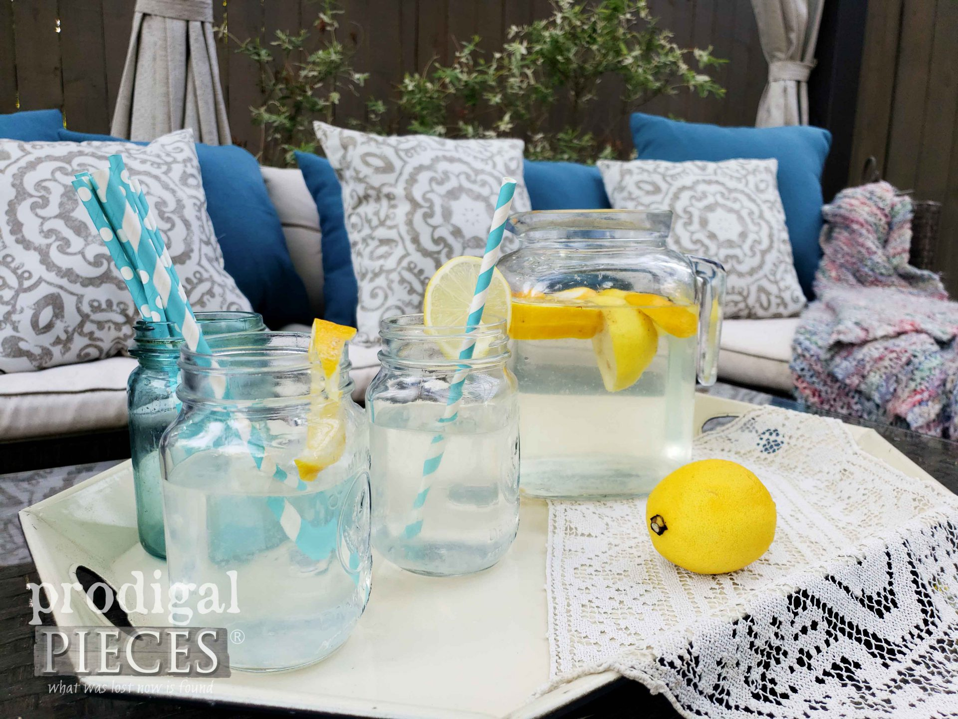 Homemade Fresh Lemonade on DIY Patio | Prodigal Pieces | prodigalpieces.com #prodigalpieces #patio #outdoor #home #homedecor