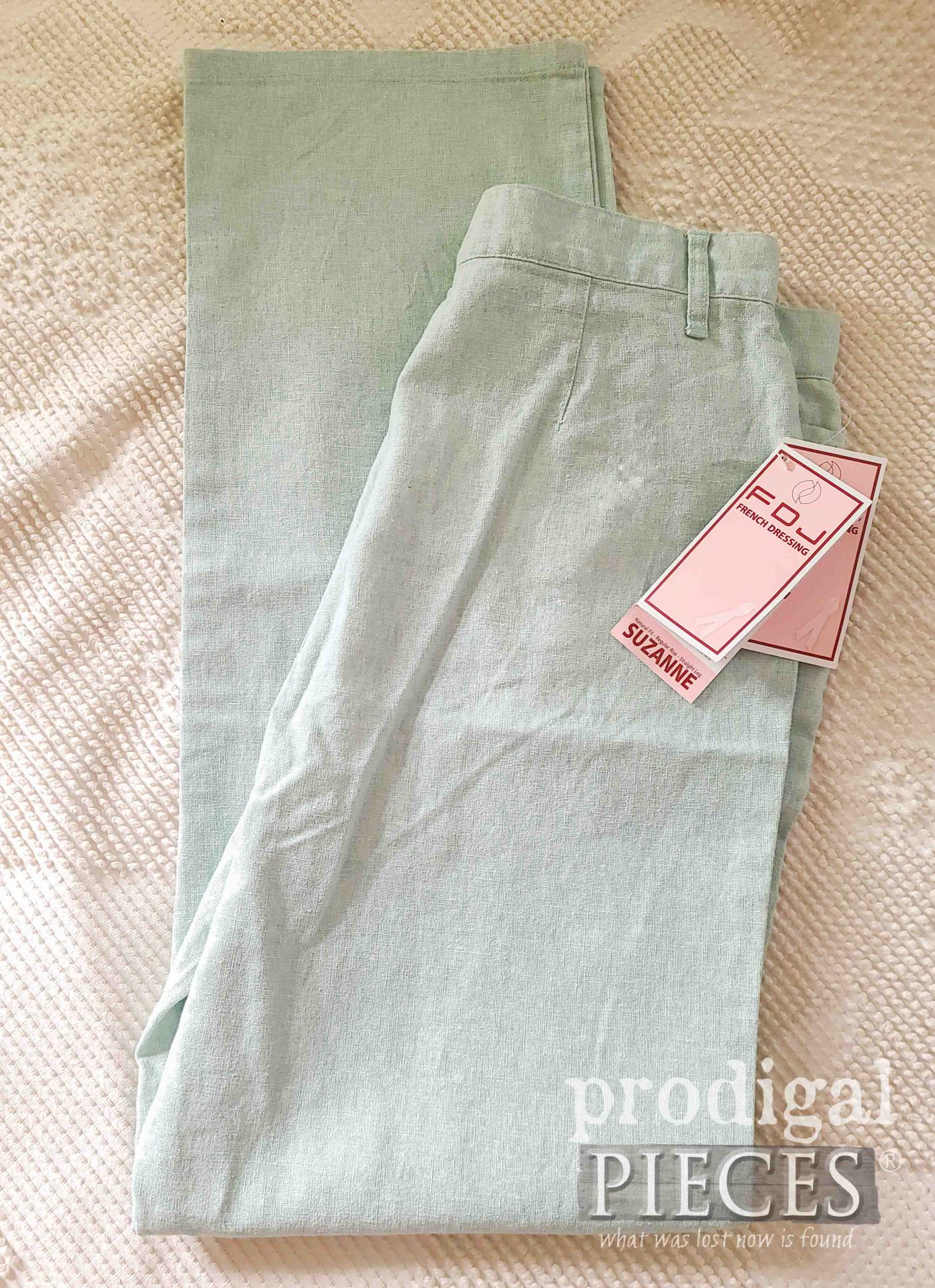 Linen Pants Before Refashion by Larissa of Prodigal Pieces | shop.prodigalpieces.com #prodigalpieces