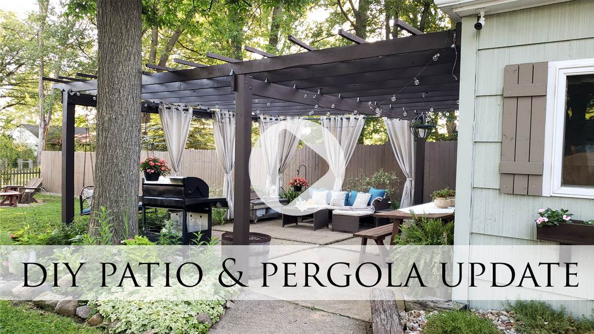 DIY Patio & Pergola Update Video by Prodigal Pieces | prodigalpieces.com #prodigalpieces