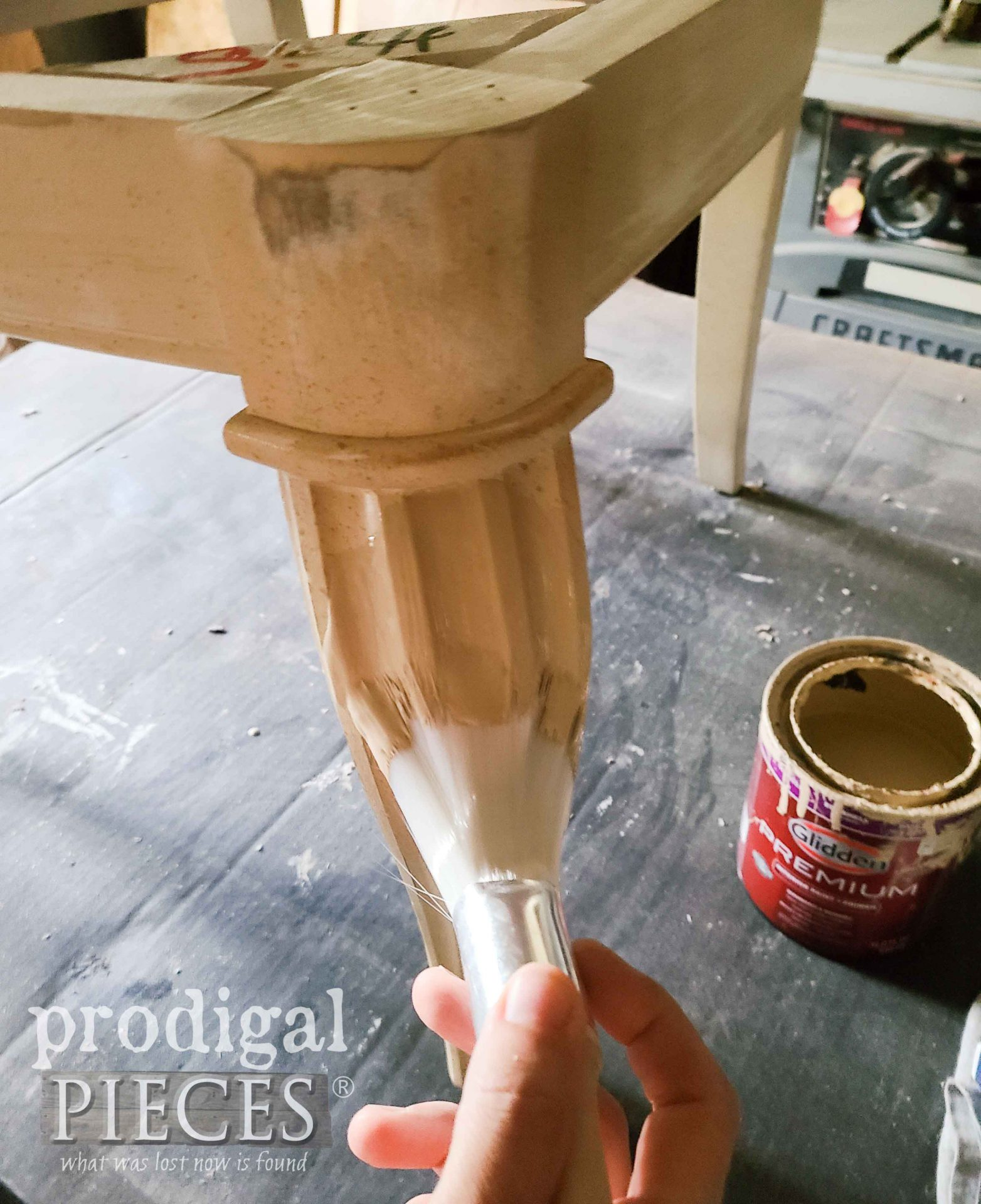 Painting Upholstered Chair Leg | prodigalpieces.com