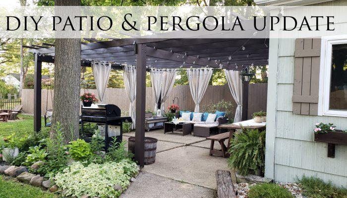 DIY Patio & Pergola Update ~ Backyard Living