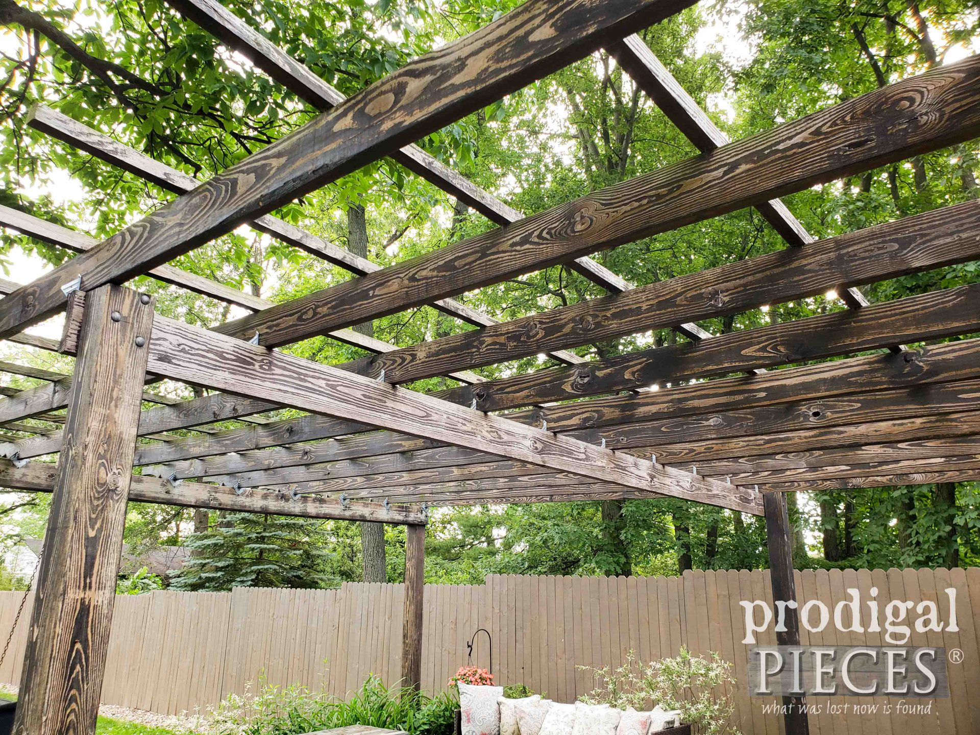 Weathered Pergola Wood Before | prodigalpieces.com
