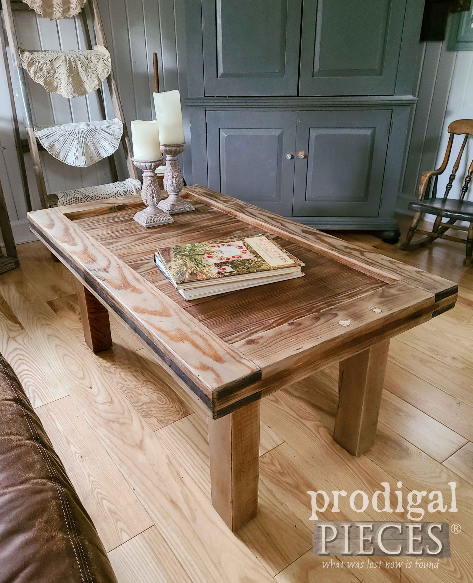 Reclaimed Farmhouse Coffee Table Built by Prodigal Pieces | prodigalpieces.com #prodigalpieces #farmhouse #home #furniture #homedecor