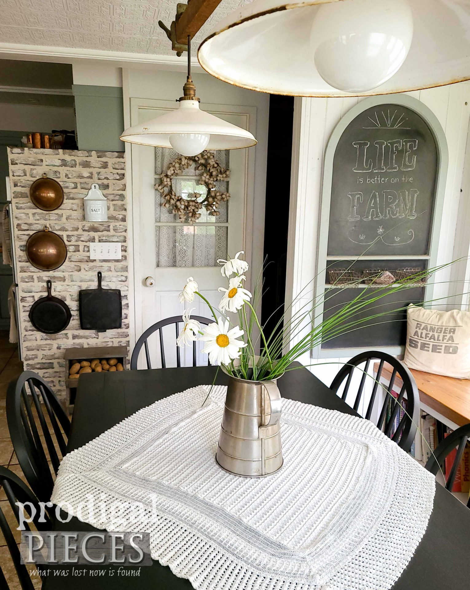 Rustic Farmhouse Dining Table Set Makeover by Larissa of Prodigal Pieces | prodigalpieces.com #prodigalpieces #dining #farmhouse #diy