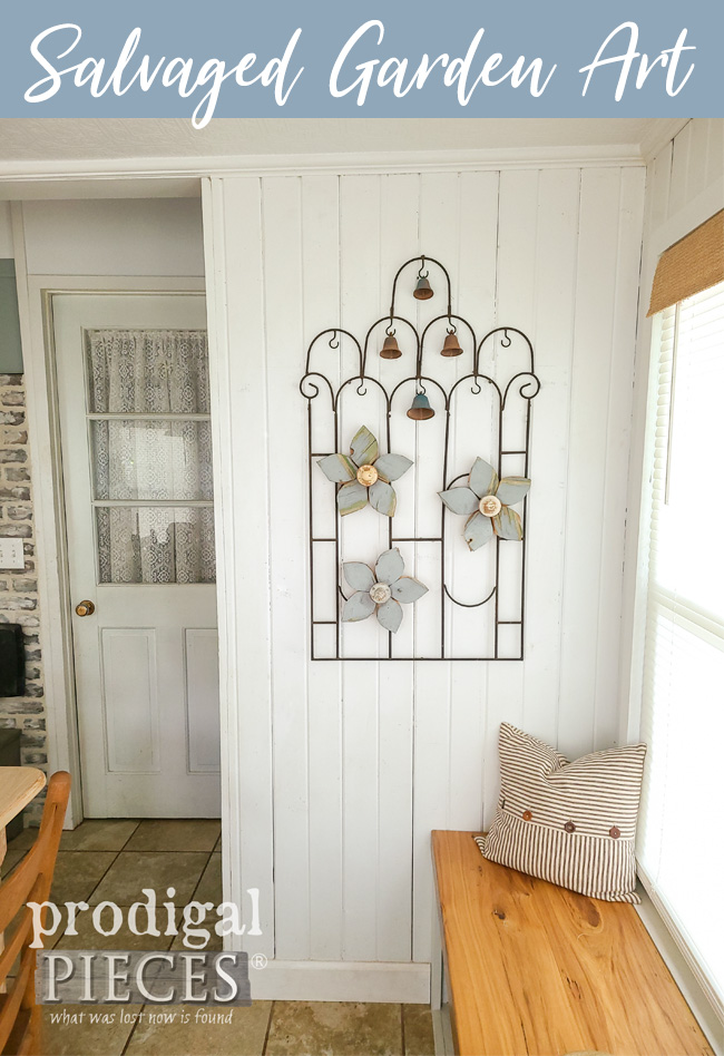 Handmade Salvaged Garden Art Created for Farmhouse Decor by Larissa of Prodigal Pieces | prodigalpieces.com #prodigalpieces #farmhouse #garden #diy #home #homedecor