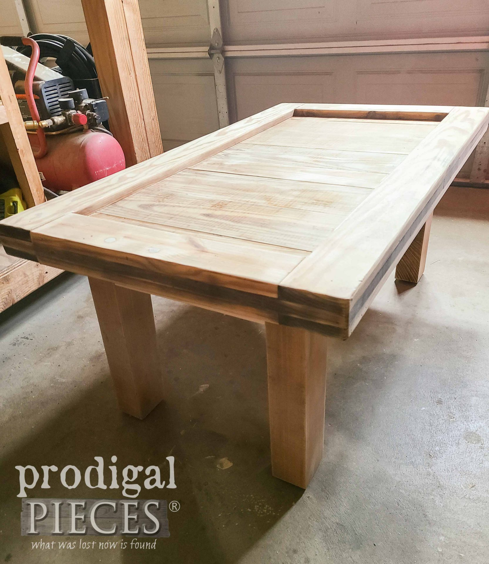 Sanded Table Before Finishing | prodigalpieces.com #prodigalpieces