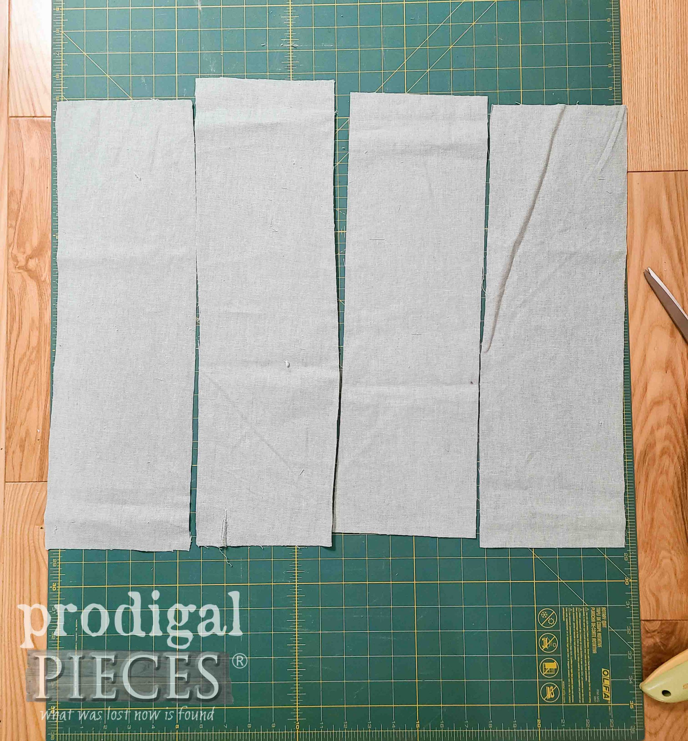 Straps and Halter Cut for DIY Linen Smock by Prodigal Pieces | prodigalpieces.com