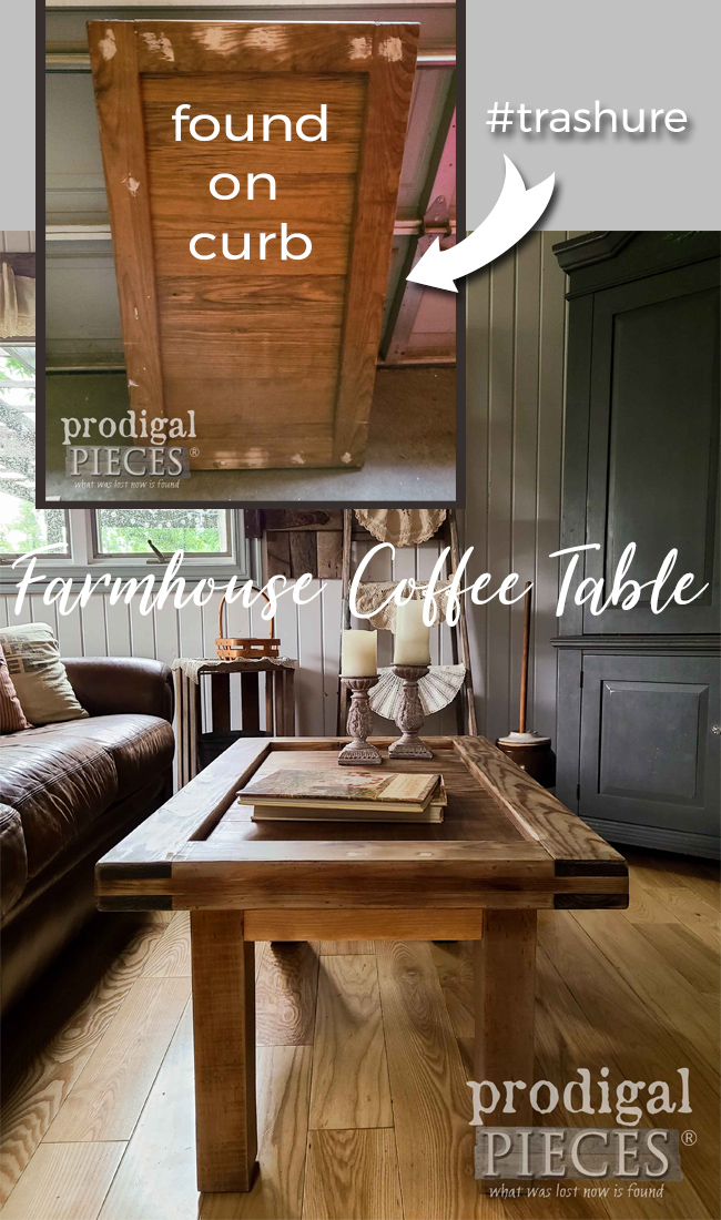 Upcycled Coffee Table Built by Larissa of Prodigal Pieces | prodigalpieces.com #prodigalpieces #furniture #home #homedecor #farmhouse
