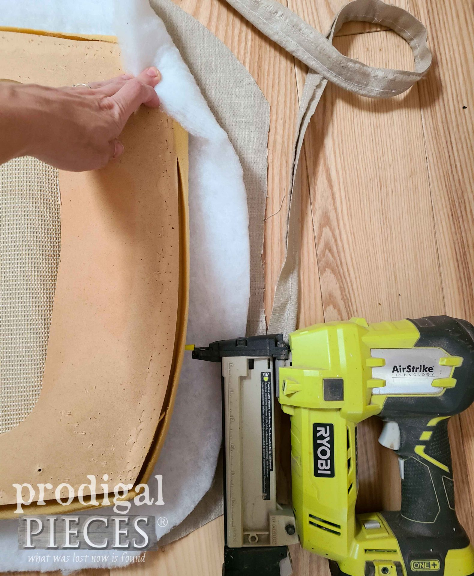 Layers of Upholstery for Upholstered Chair Makeover by Prodigal Pieces | prodigalpieces.com