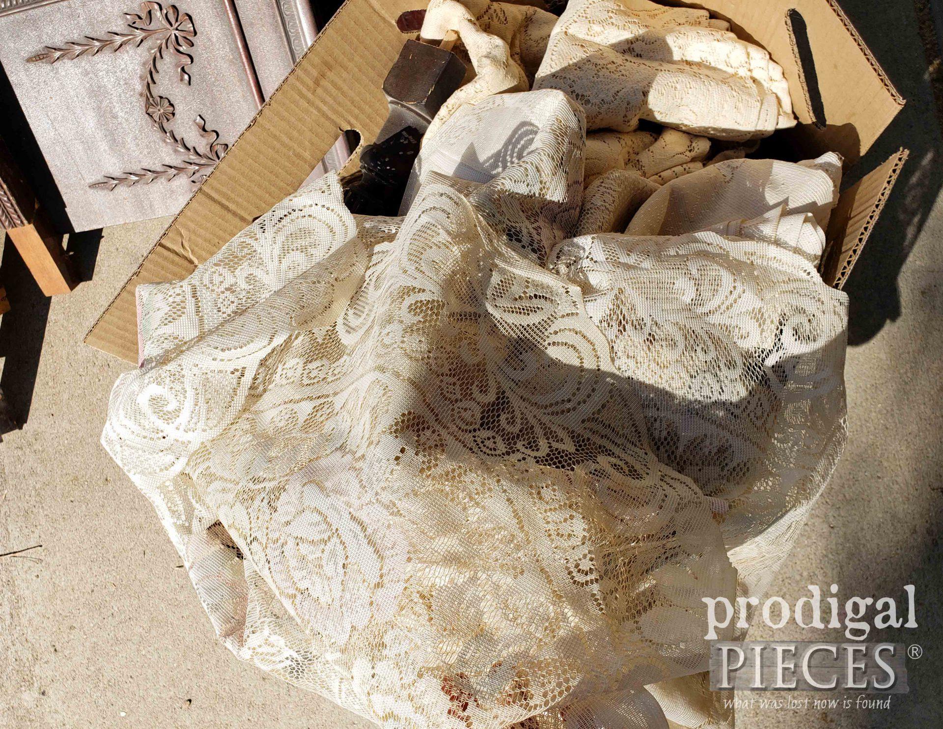 Box of Vintage Linens   prodigalpieces.com