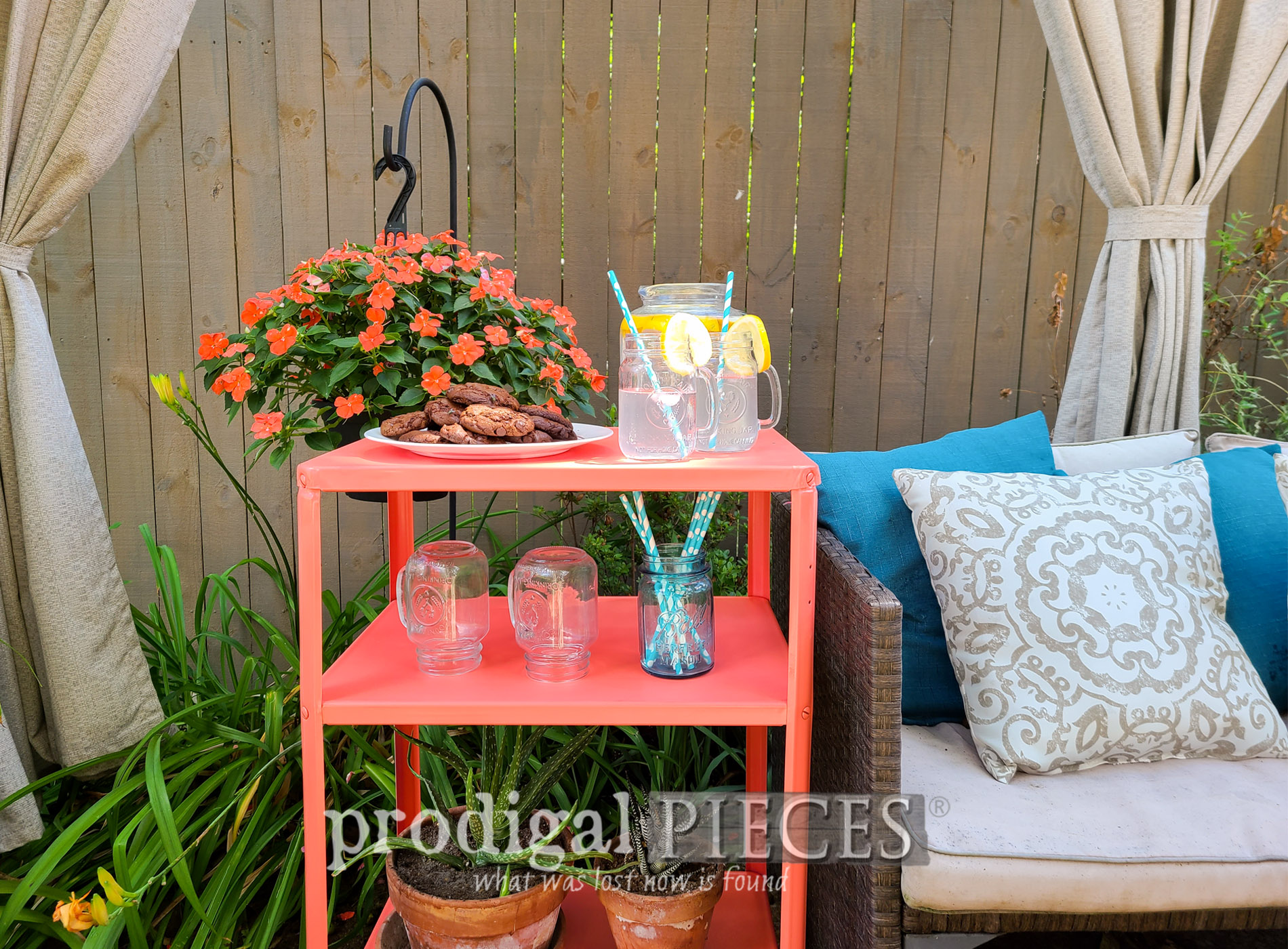 Featured Vintage Serving Cart Update by Larissa of Prodigal Pieces | prodigalpieces.com #prodigalpieces #diy #furniture #home #homedecor #vintage