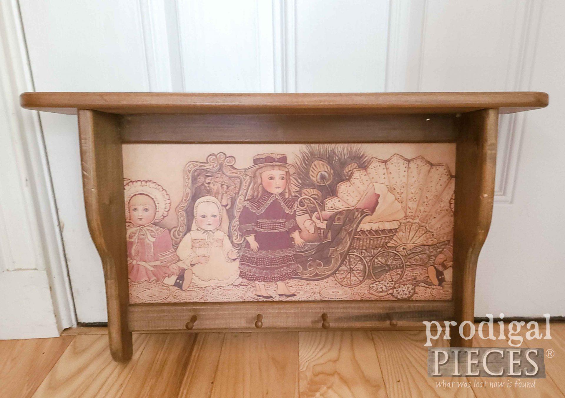 Vintage Shelf Before | prodigalpieces.com #prodigalpieces