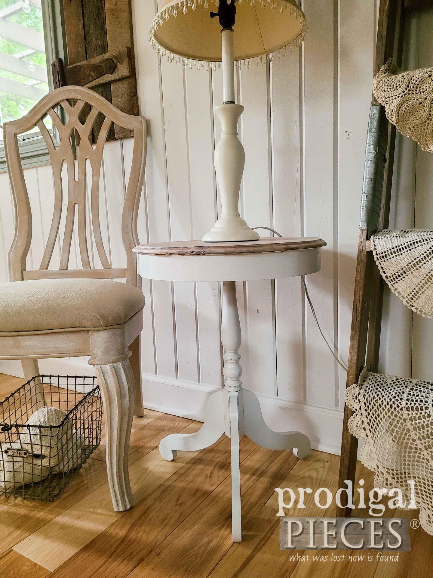 Small Antique Drum Table Refinished by Larissa of Prodigal Pieces | prodigalpieces.com #prodigalpieces #antique #furniture #farmhouse #home #diy #homedecor