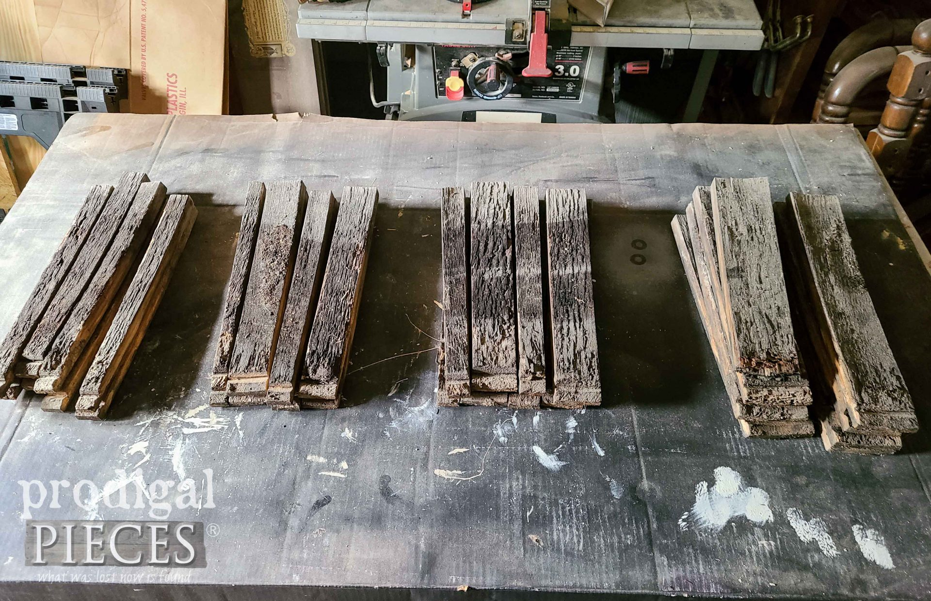 Pile of Upcycled Whiskey Barrel Staves   prodigalpieces.com