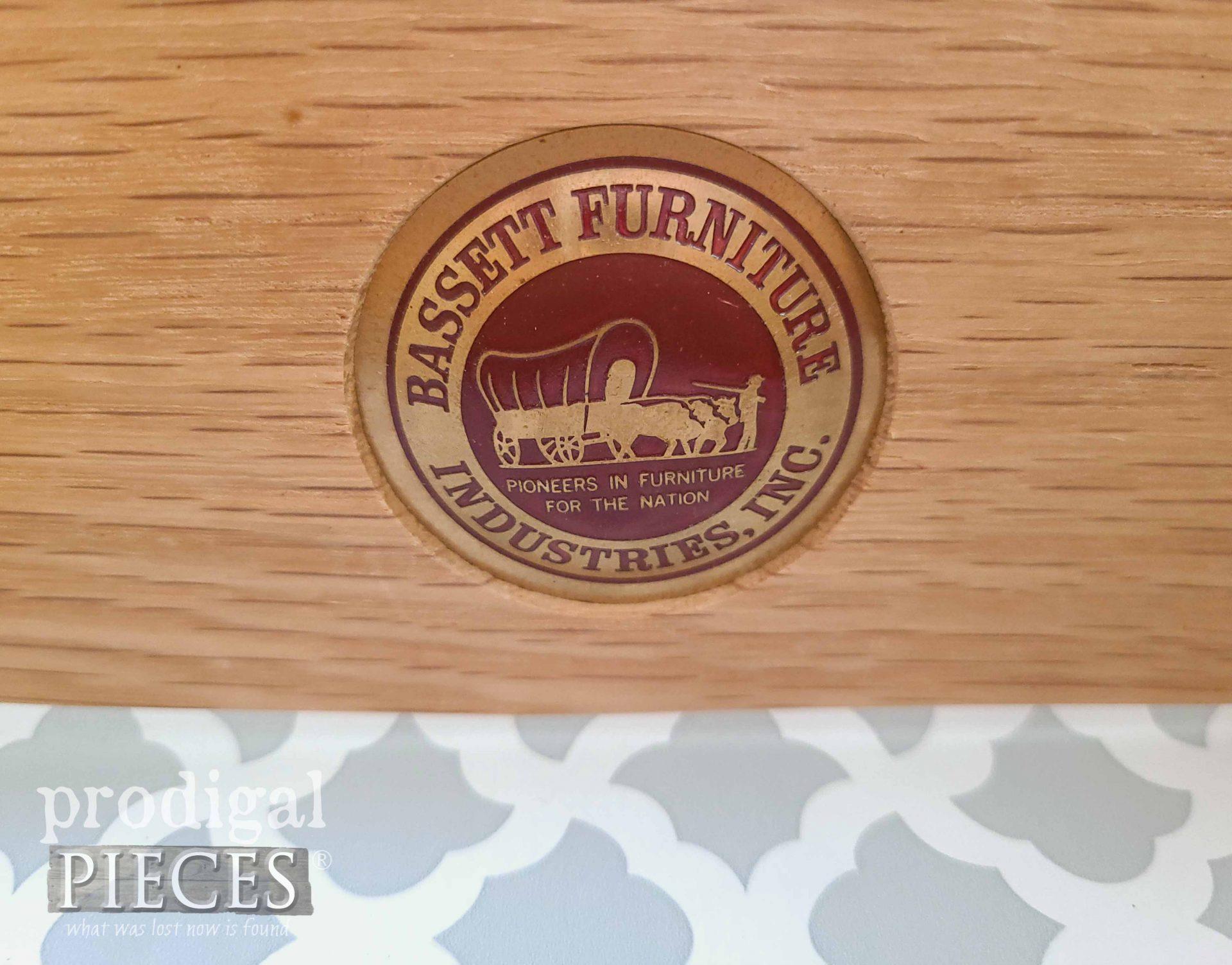 Vintage Bassett Furniture Logo | prodigalpieces.com #prodigalpieces