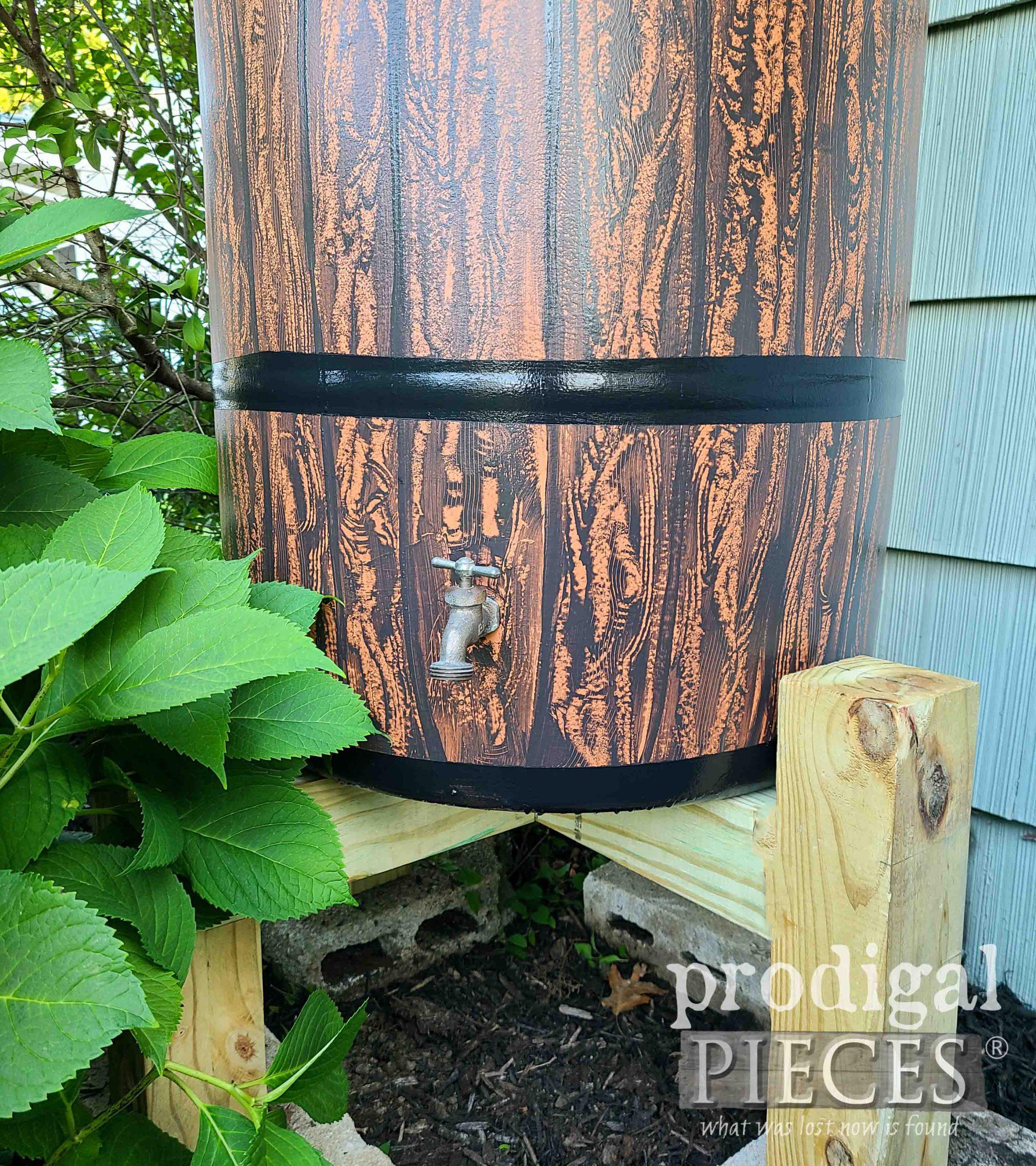 Brass Rain Barrel Tap | prodigalpieces.com #prodigalpieces #garden #diy