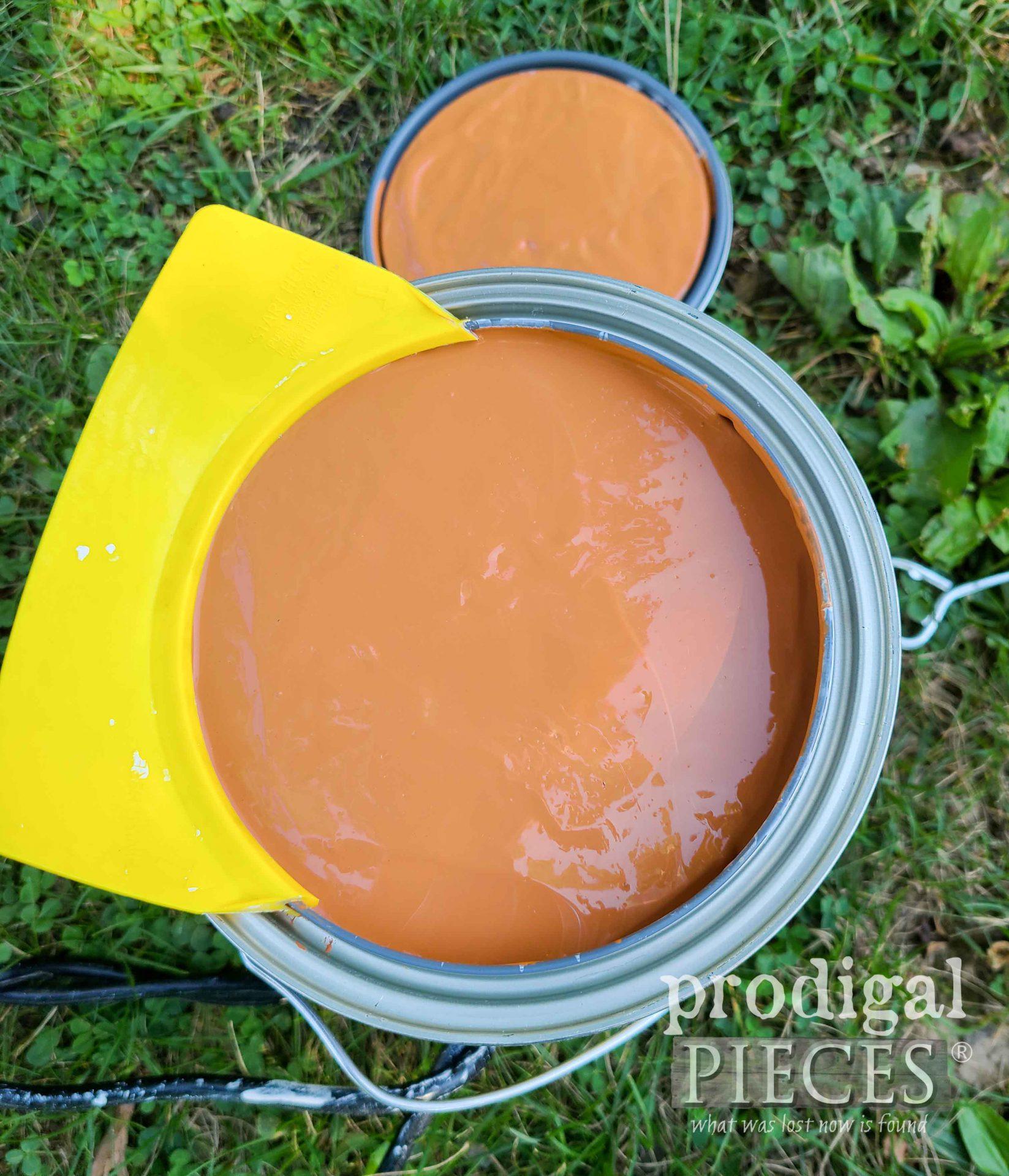 Maple Glaze Exterior Paint Color for DIY Rain Barrel | prodigalpieces.com