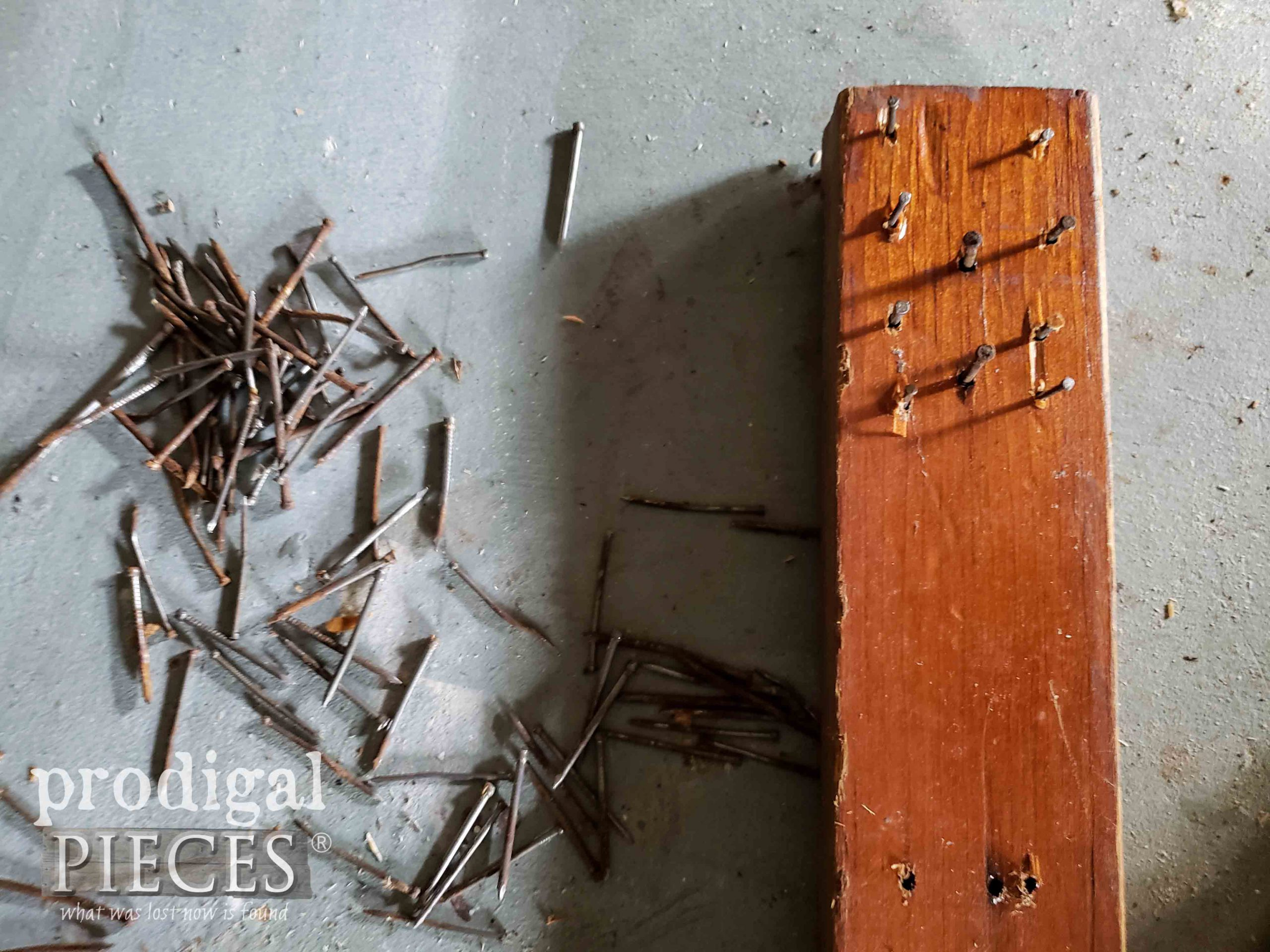 Bunches of Nails from Shelf | prodigalpieces.com
