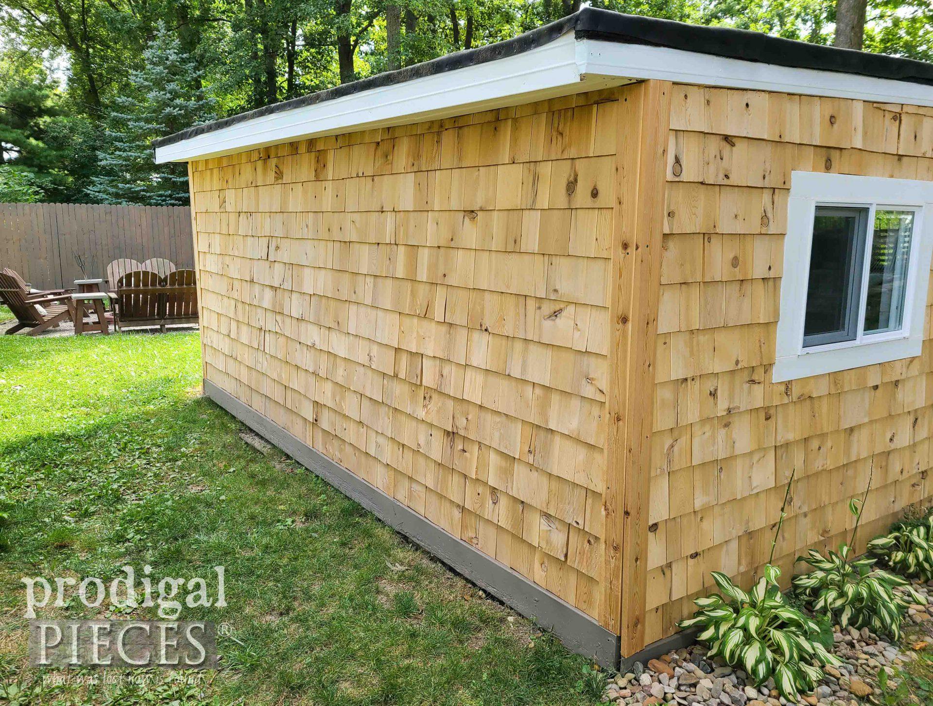 Cedar Shake Shed Back for Gardening   prodigalpieces.com