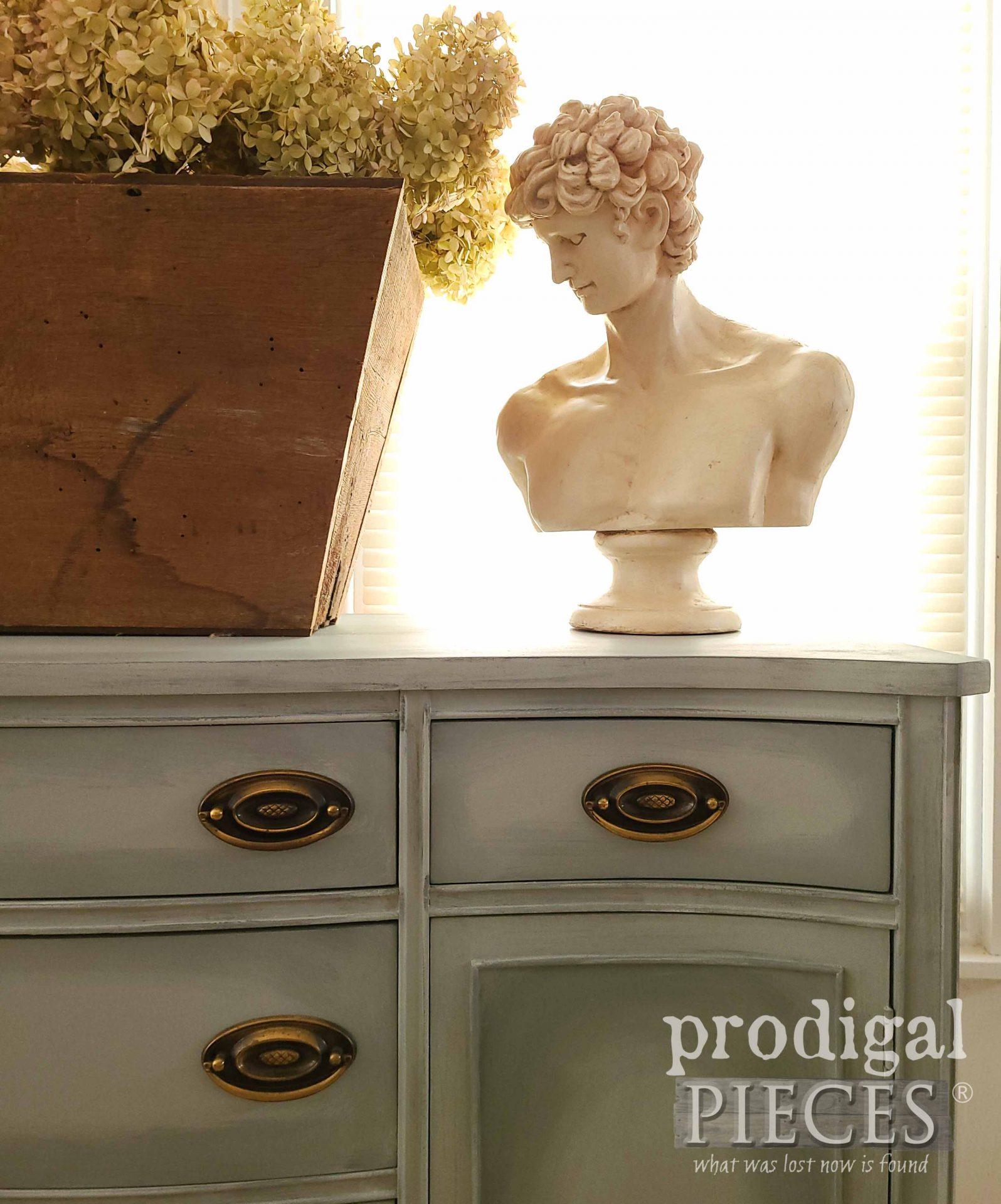 Corner Buffet Styling by Larissa of Prodigal Pieces | prodigalpieces.com #prodigalpieces #farmhouse #diy #home #homedecor