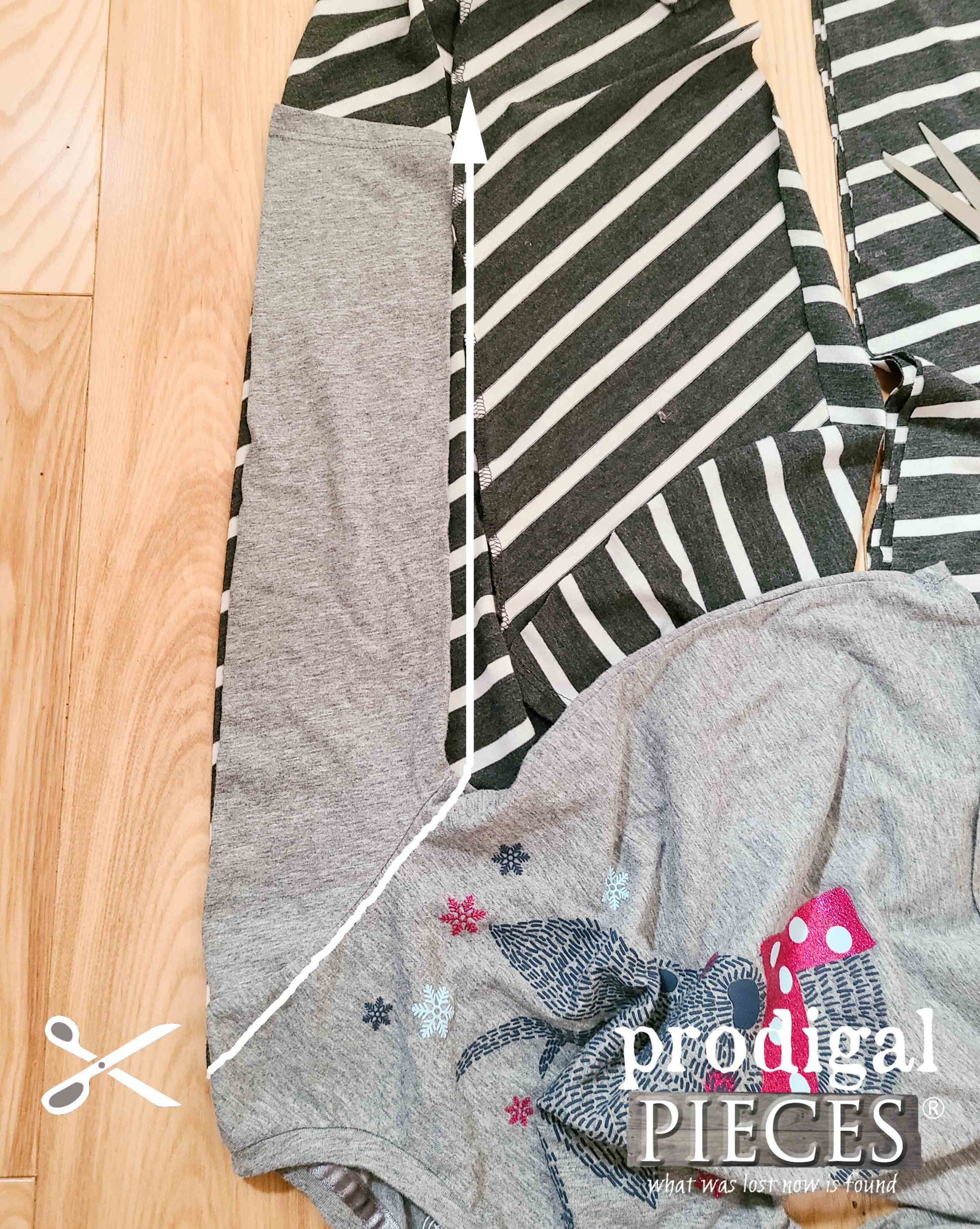 Cutting Long Sleeve for Nightgown by Larissa of Prodigal Pieces | prodigalpieces.com