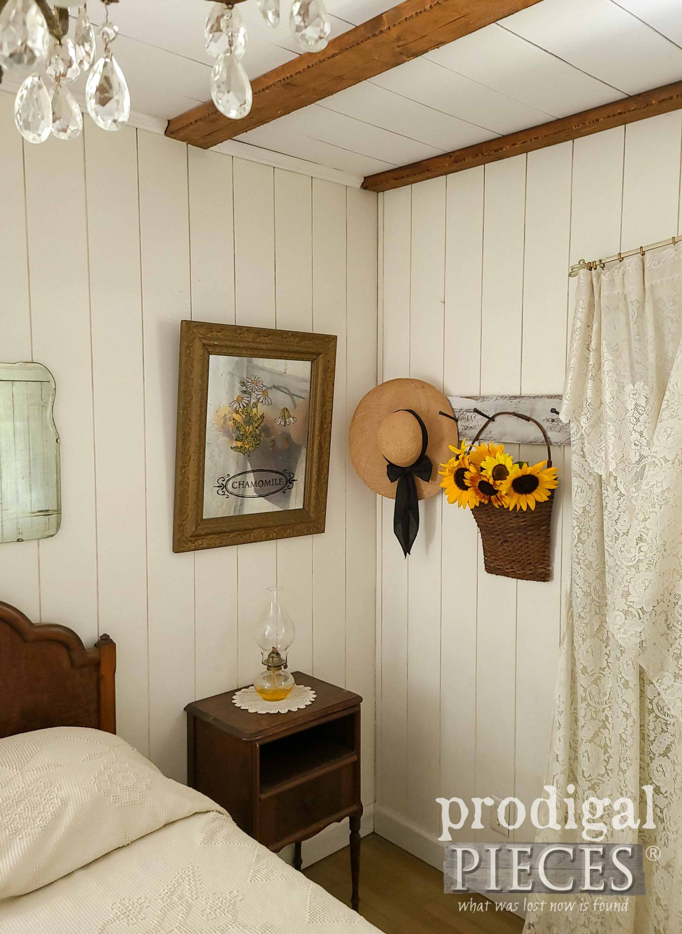 Farmhouse Bedroom Corner with DIY Decor by Larissa of Prodigal Pieces | prodigalpieces.com #prodigalpieces #diy #home #homedecor #bedroom #farmhouse