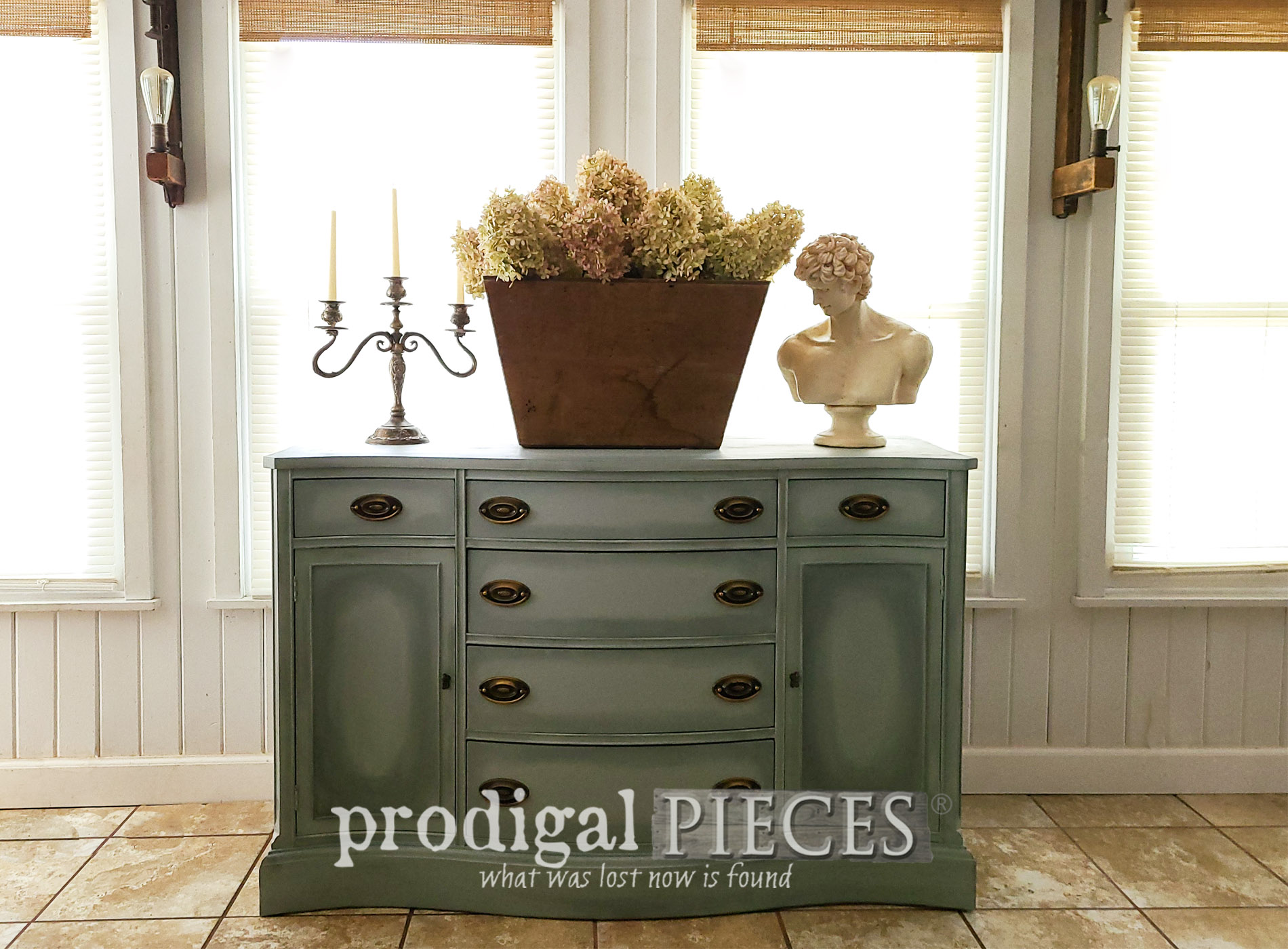 Featured Vintage Bassett Buffet Makeover by Larissa of Prodigal Pieces | prodigalpieces.com #prodigalpieces #furniture #vintage #diy #home #homedecor