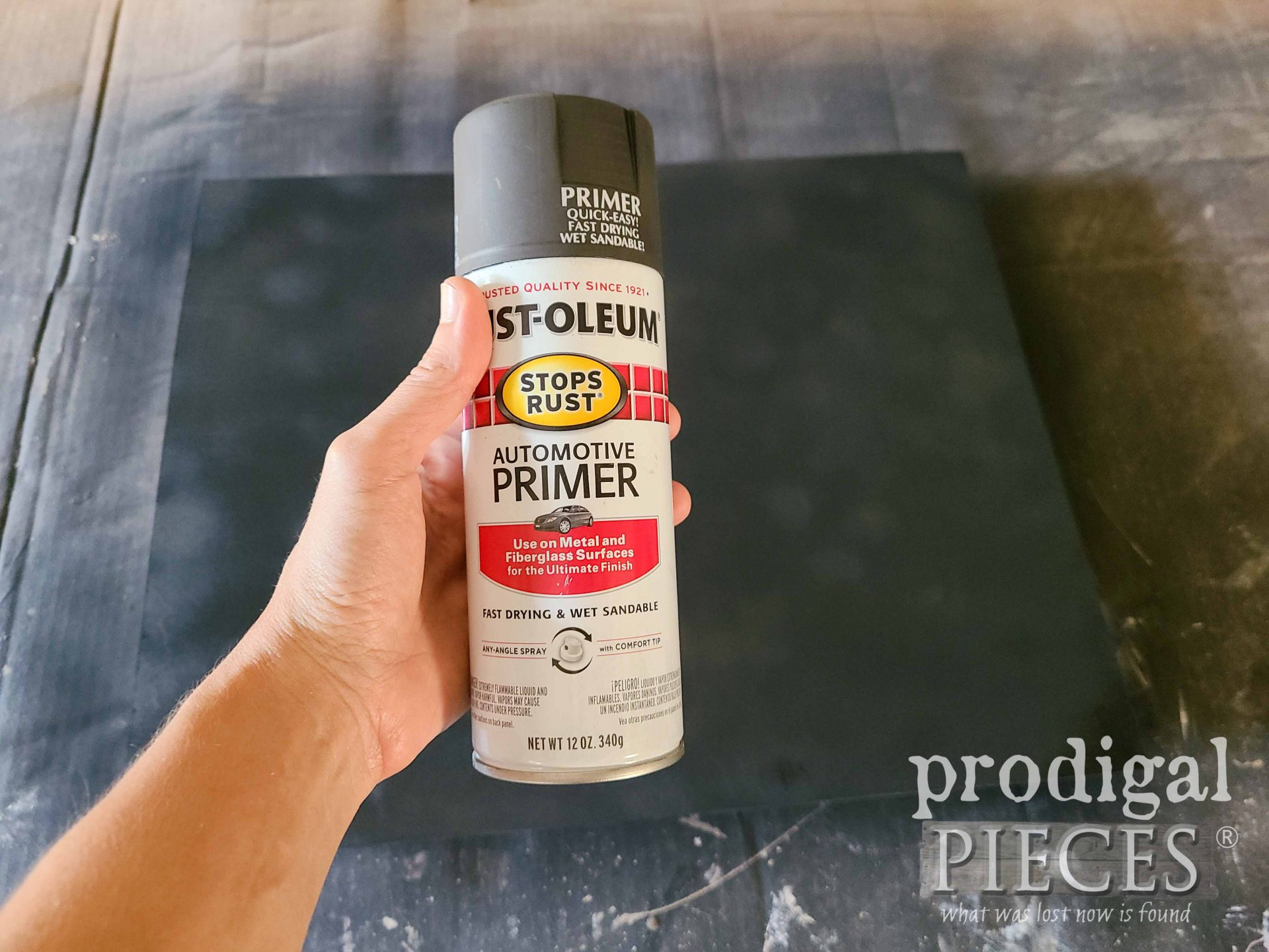 Gray Primer for Upcycled Picture Frame Mirror Art | prodigalpieces.com
