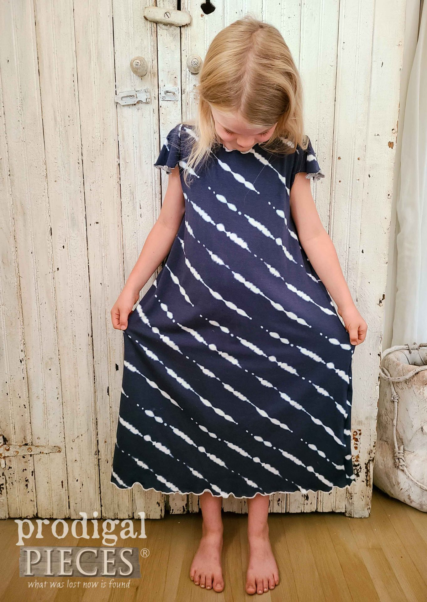 Handmade Nightgown from Upcycled Skirt | prodigalpieces.com #prodigalpieces #refashion #diy #sewing #clothing #fashion #upcycled