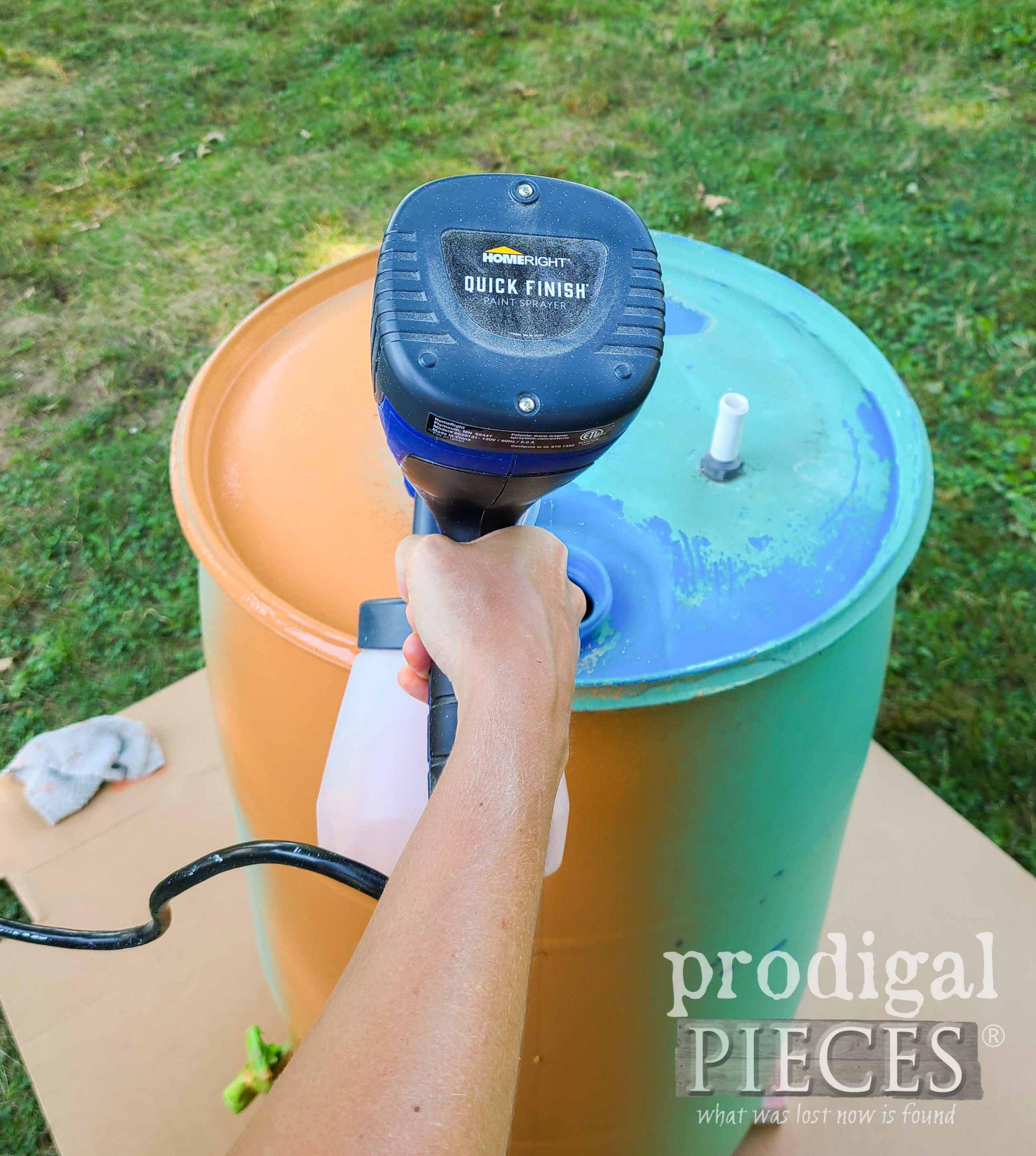 HomeRight Quick Finish Paint Sprayer for DIY Rain Barrel by Prodigal Pieces | prodigalpieces.com