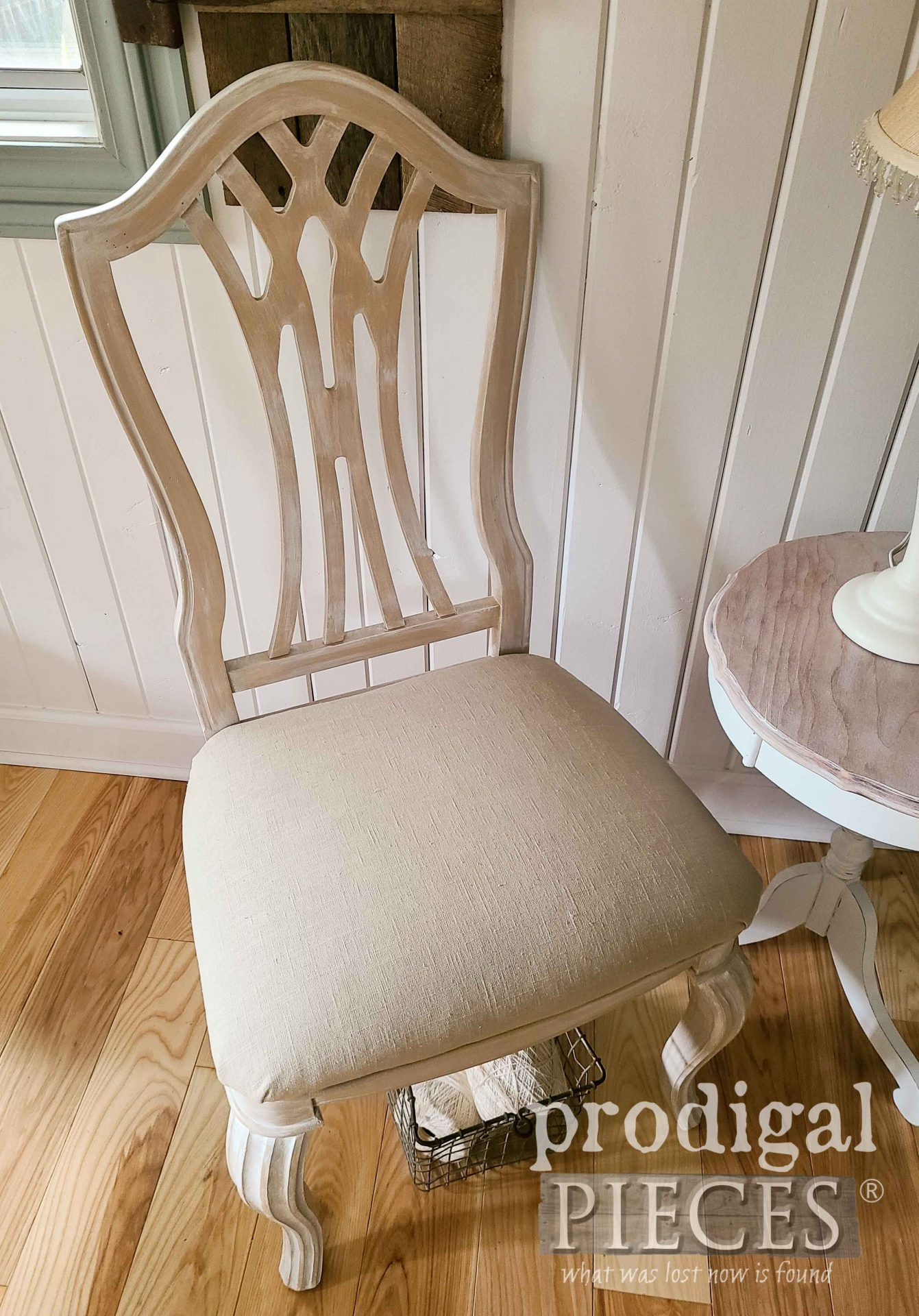 Linen Upholstered Chair Makeover by Larissa of Prodigal Pieces | prodigalpieces.com #prodigalpieces #home #homedecor #diy #furniture