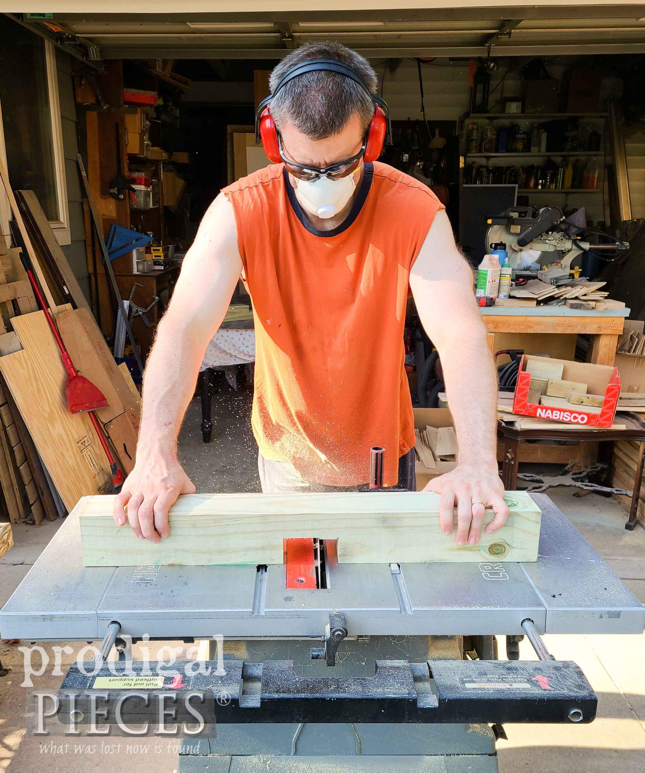 Making DIY Rain Barrel Stand | prodigalpieces.com #prodigalpieces #diy