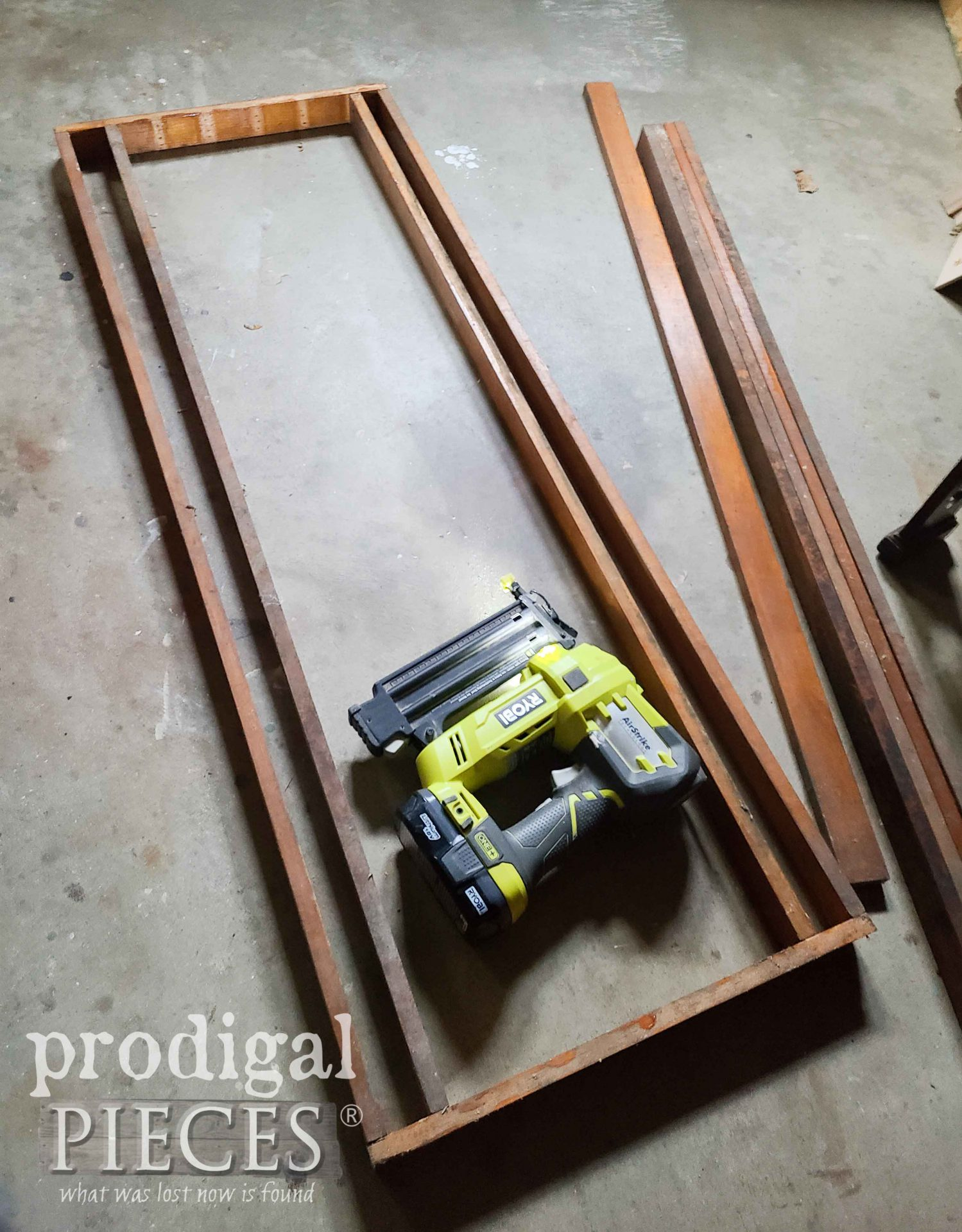 Nailing Together DIY Folding Potting Bench by Larissa of Prodigal Pieces | prodigalpieces.com