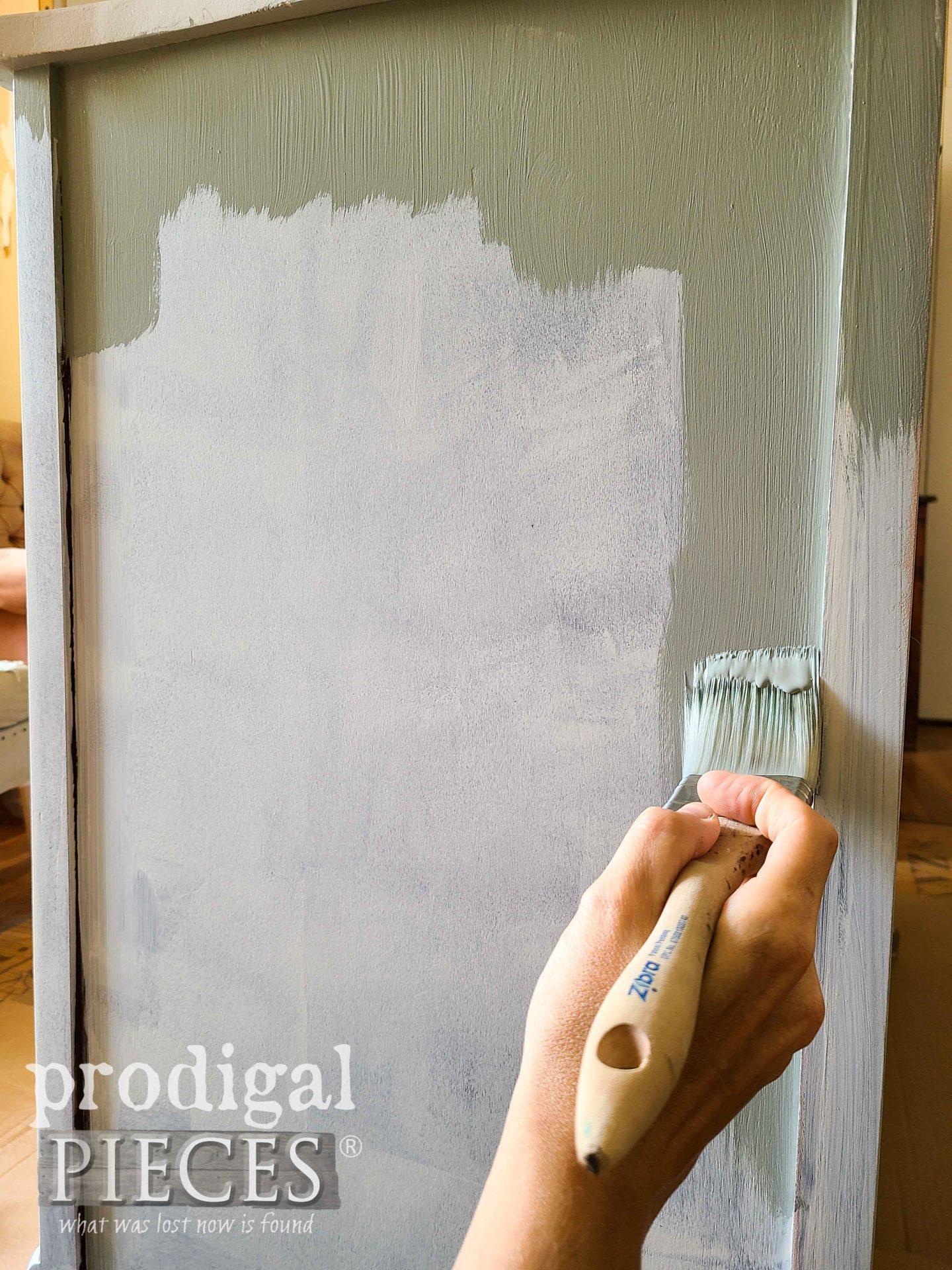 Painting Bassett Buffet with Zibra Brush by Larissa of Prodigal Pieces | prodigalpieces.com