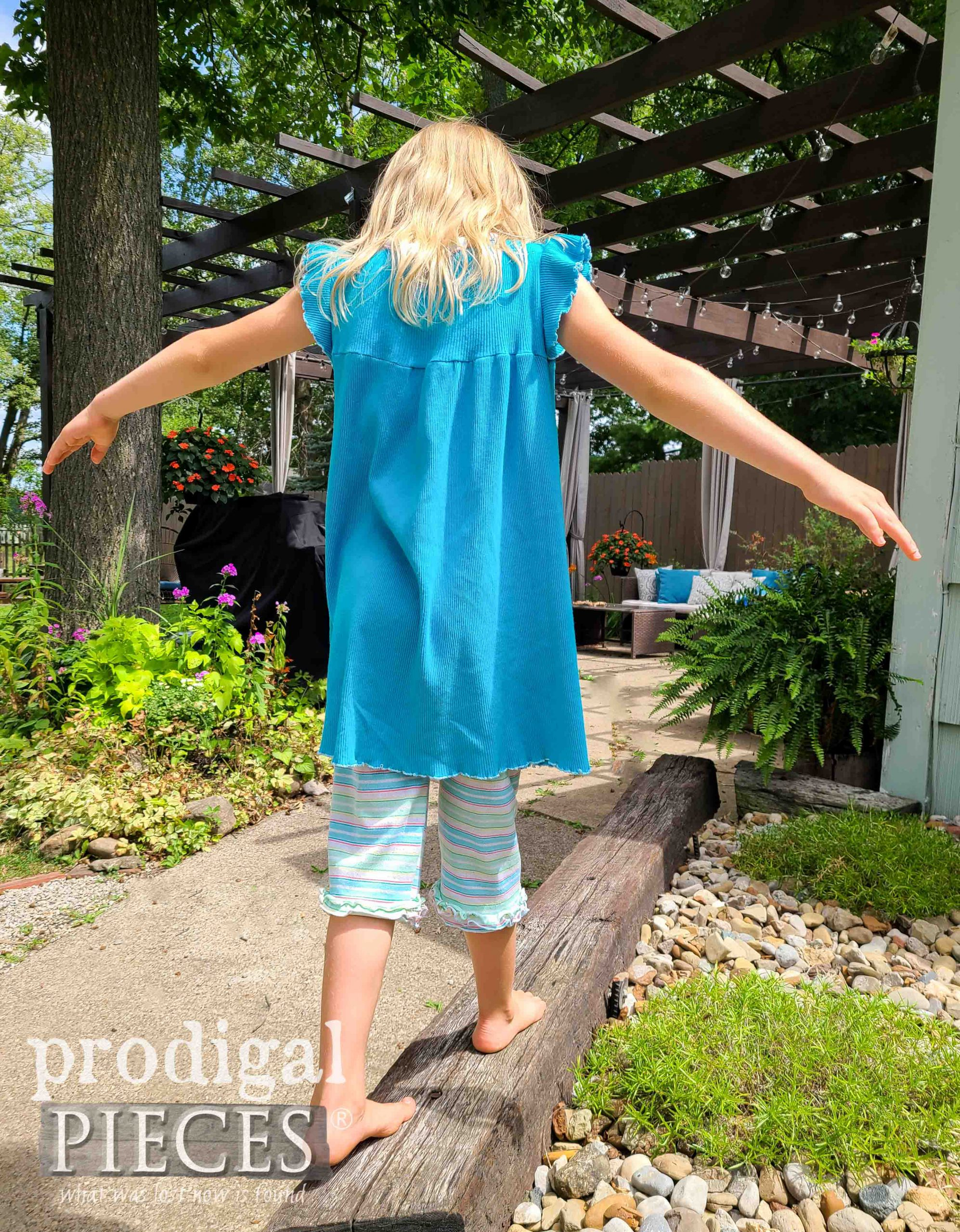 Playdate Romper Dress Set Handmade by Larissa of Prodigal Pieces | prodigalpieces.com #prodigalpieces
