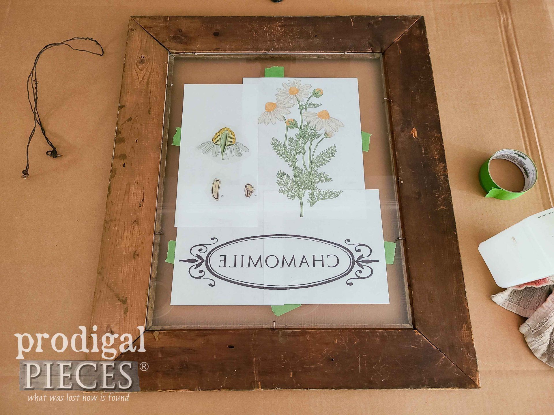 Reverse Image Print on Upcycled Picture Frame | prodigalpieces.com