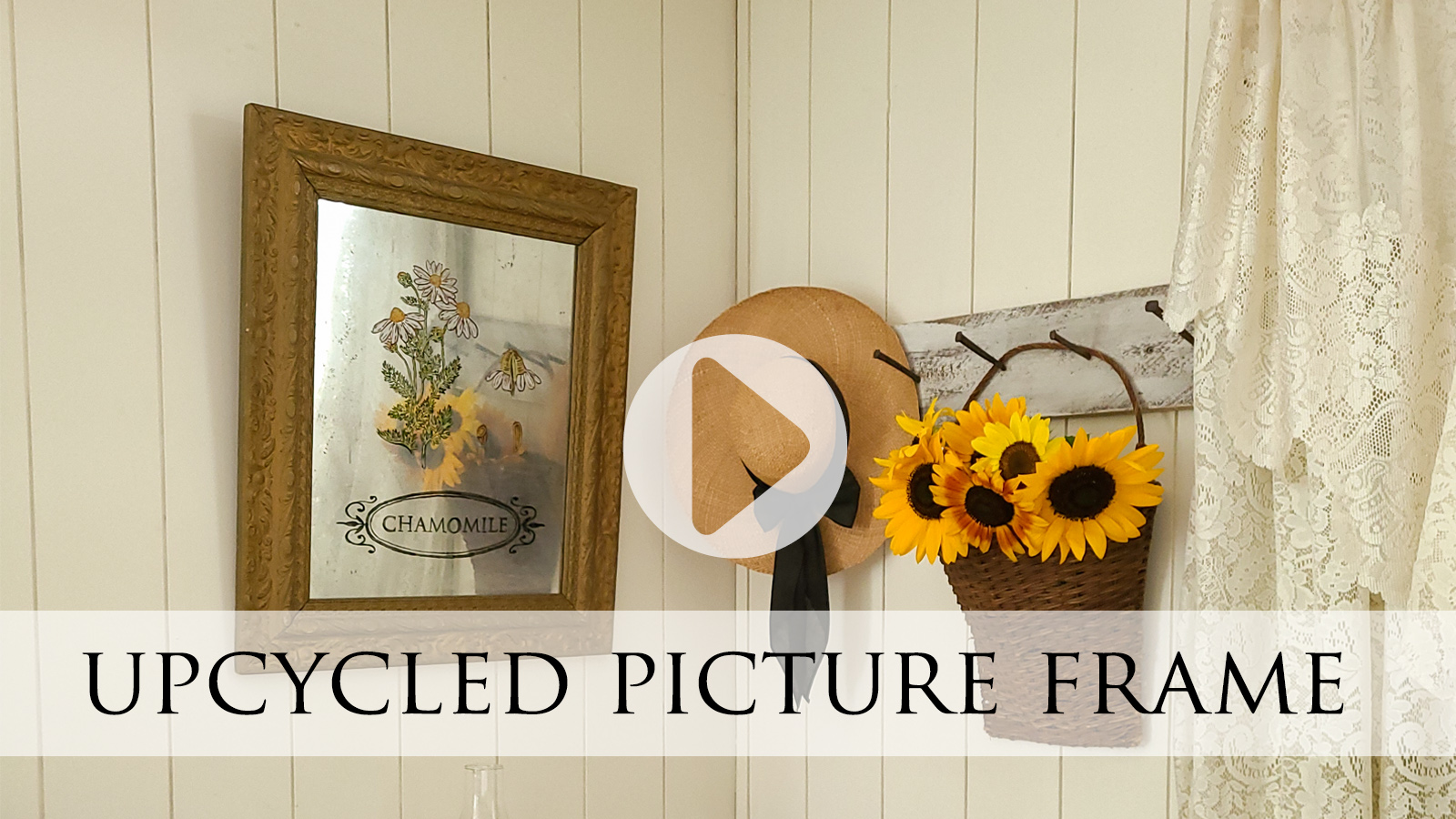 DIY Upcycled Picture Frame Video Tutorial by Larissa of Prodigal Pieces | prodigalpieces.com #prodigalpieces