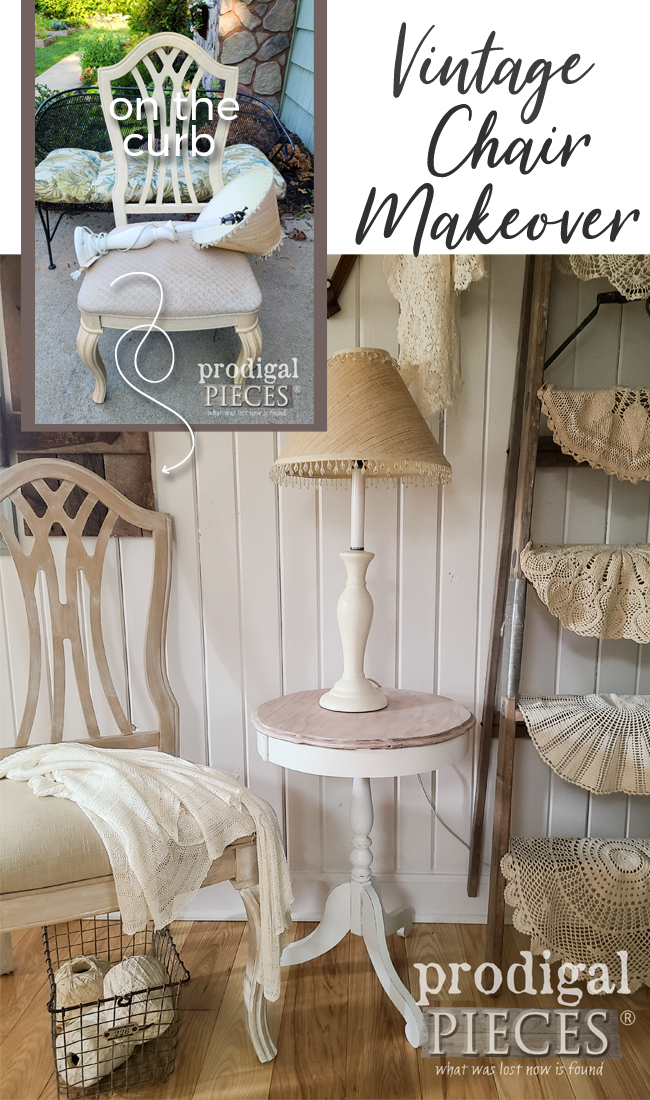 This vintage Stanley upholstered chair was left in the trash. Trash no more! See how Larissa of Prodigal Pieces gave it new life at prodigalpieces.com #prodigalpieces #furniture #upholstery #vintage #home #homedecor