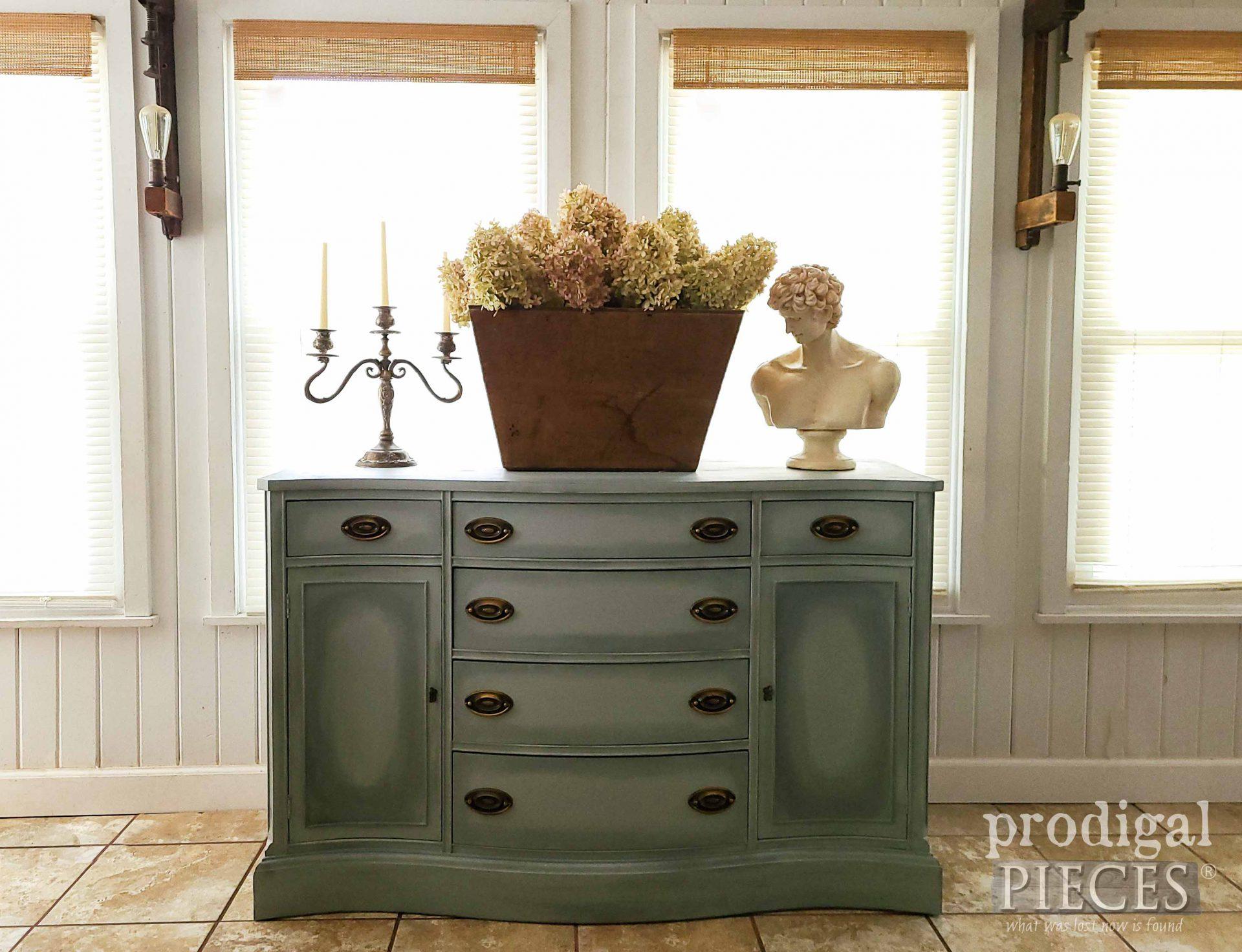 Vintage Bassett Buffet Made New by Larissa of Prodigal Pieces | prodigalpieces.com #prodigalpieces #vintage #antique #furniture #home #homedecor