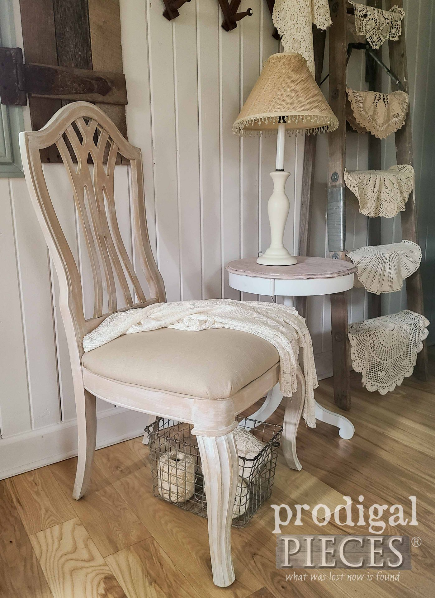 Vintage Stanley Splat Back Chair with Linen Upholstery by Larissa of Prodigal Pieces | prodigalpieces.com #prodigalpieces #furniture #home #diy #homedecor #farmhouse
