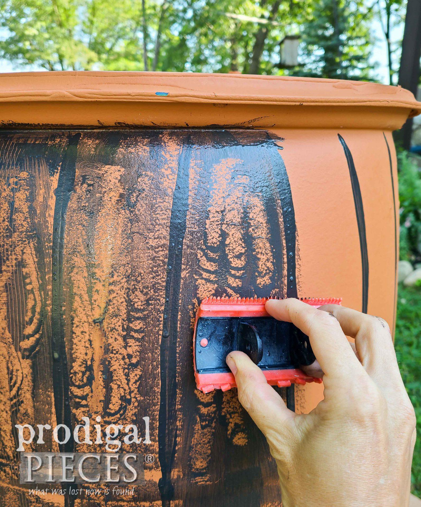 Woodgraining Rain Barrel | prodigalpieces.com