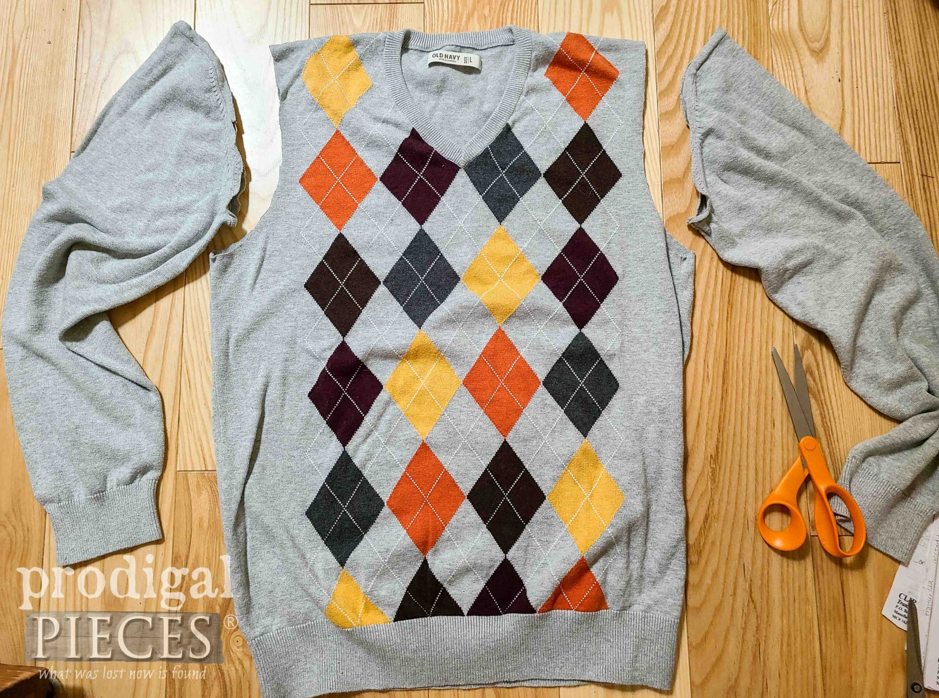 Thrifted Argyle Sweater for DIY Dog Coat by Prodigal Pieces | prodigalpieces.com #prodigalpieces