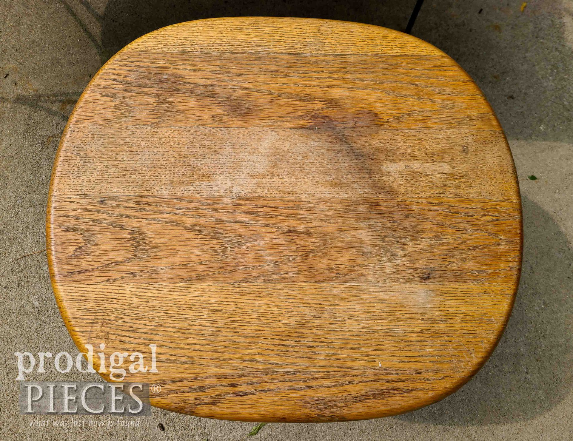 Water Damaged Side Table Top | prodigalpieces.com