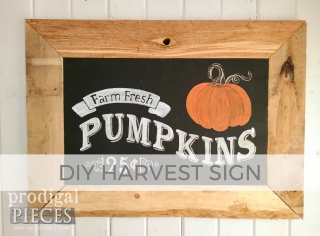 DIY Harvest Sign by Larissa of Prodigal Pieces | prodigalpieces.com #prodigalpieces